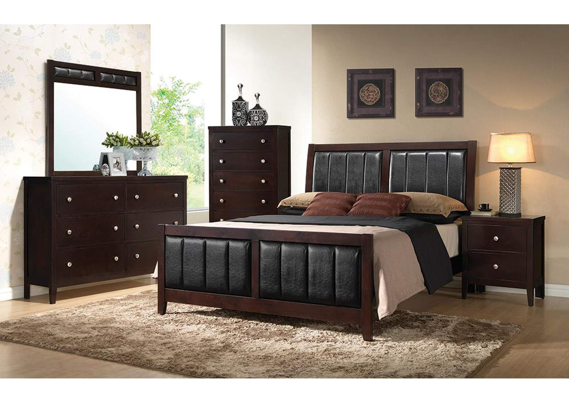Solid Wood & Veneer Queen Bed,Coaster Furniture