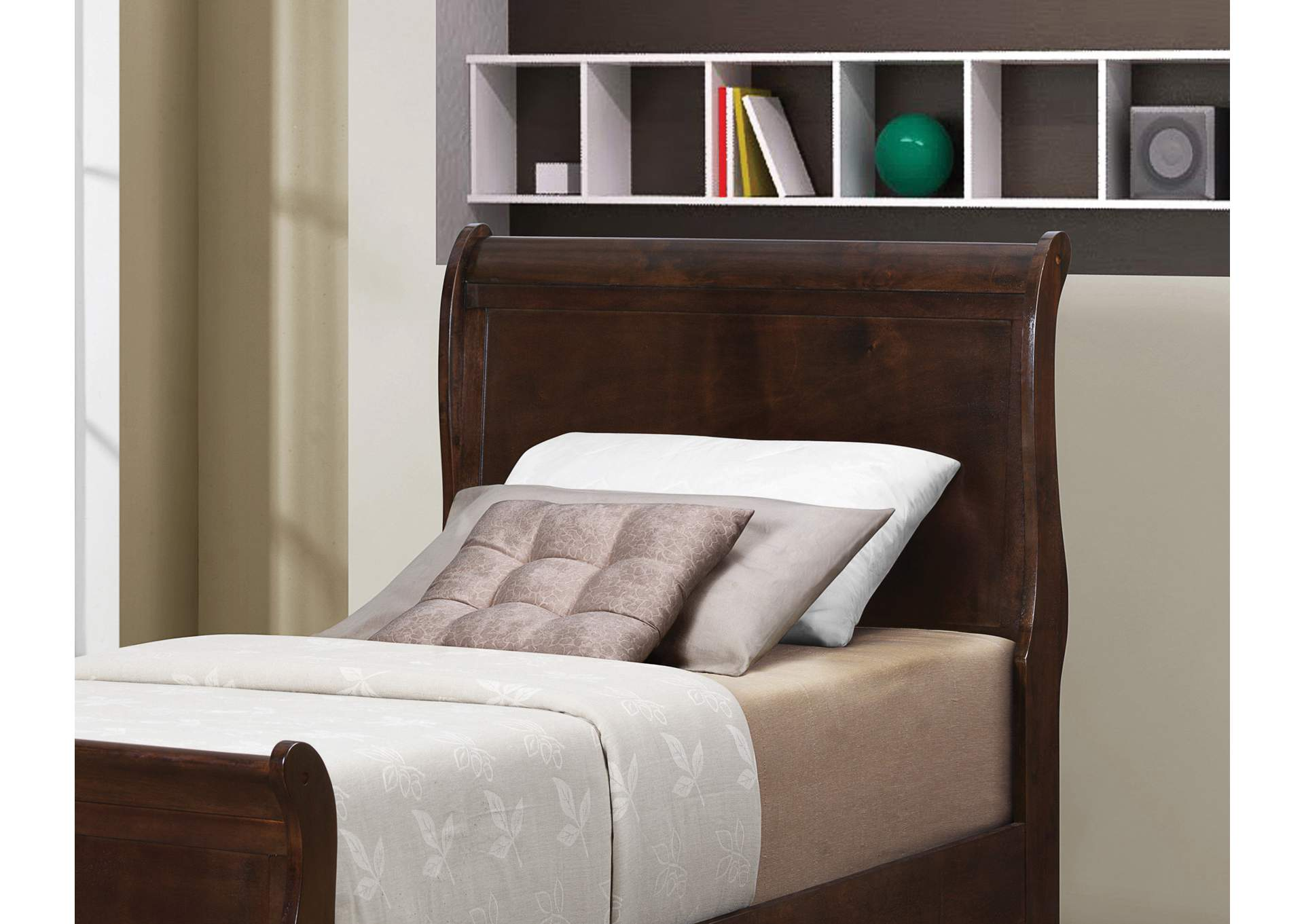 Louis Philippe Cappuccino Twin Bed,Coaster Furniture