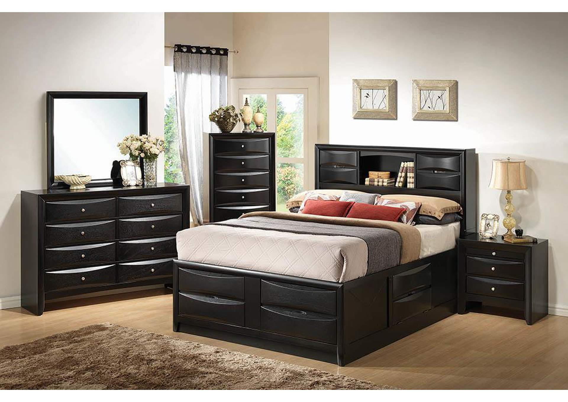 Briana Black Eastern King Storage Bed,Coaster Furniture