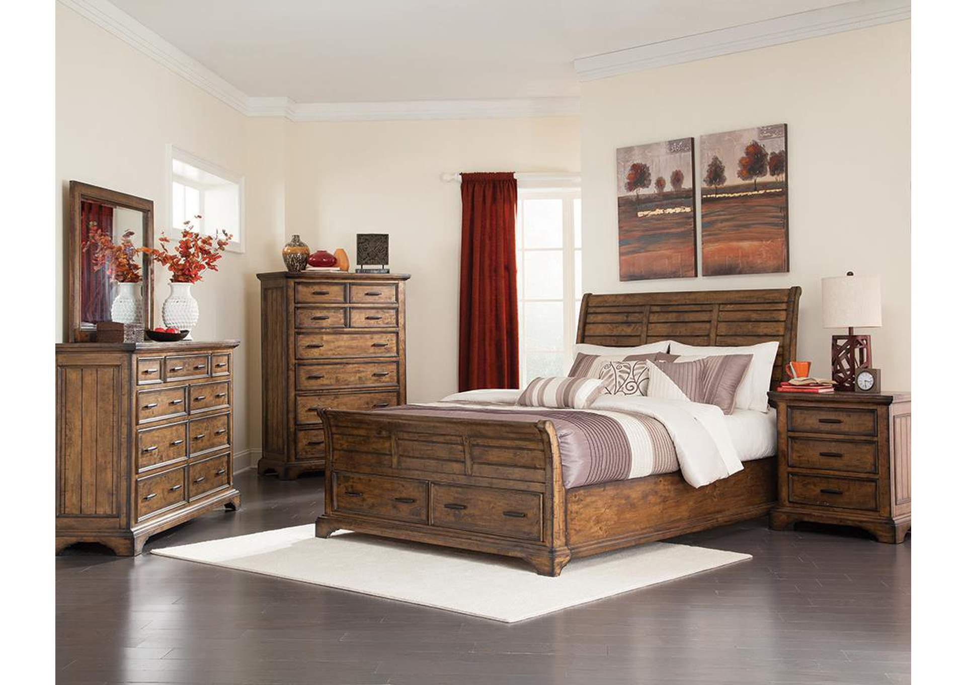 Brothers Fine Furniture Vintage Bourbon Queen Bed
