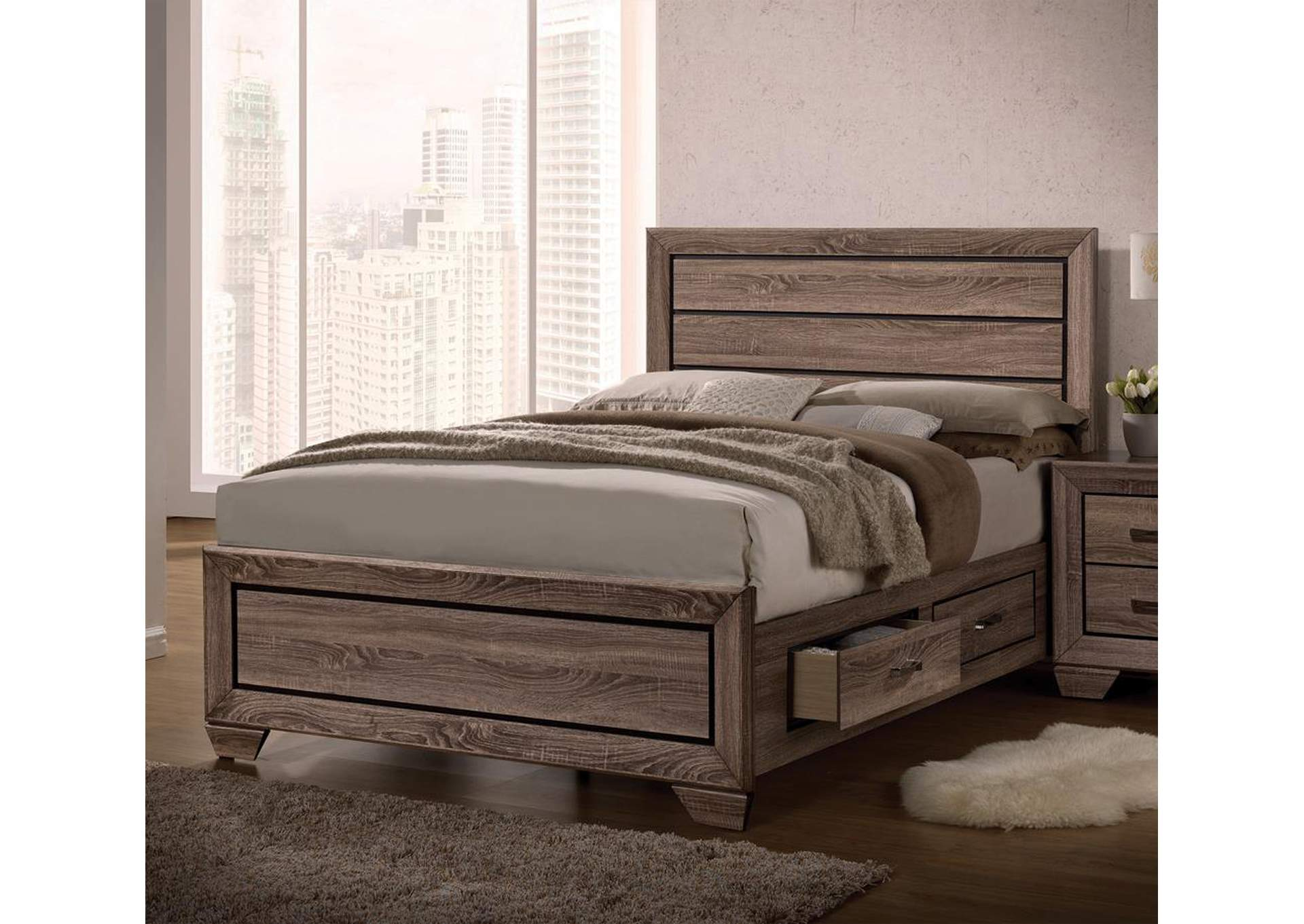 Kauffman Taupe Queen Bed,Coaster Furniture
