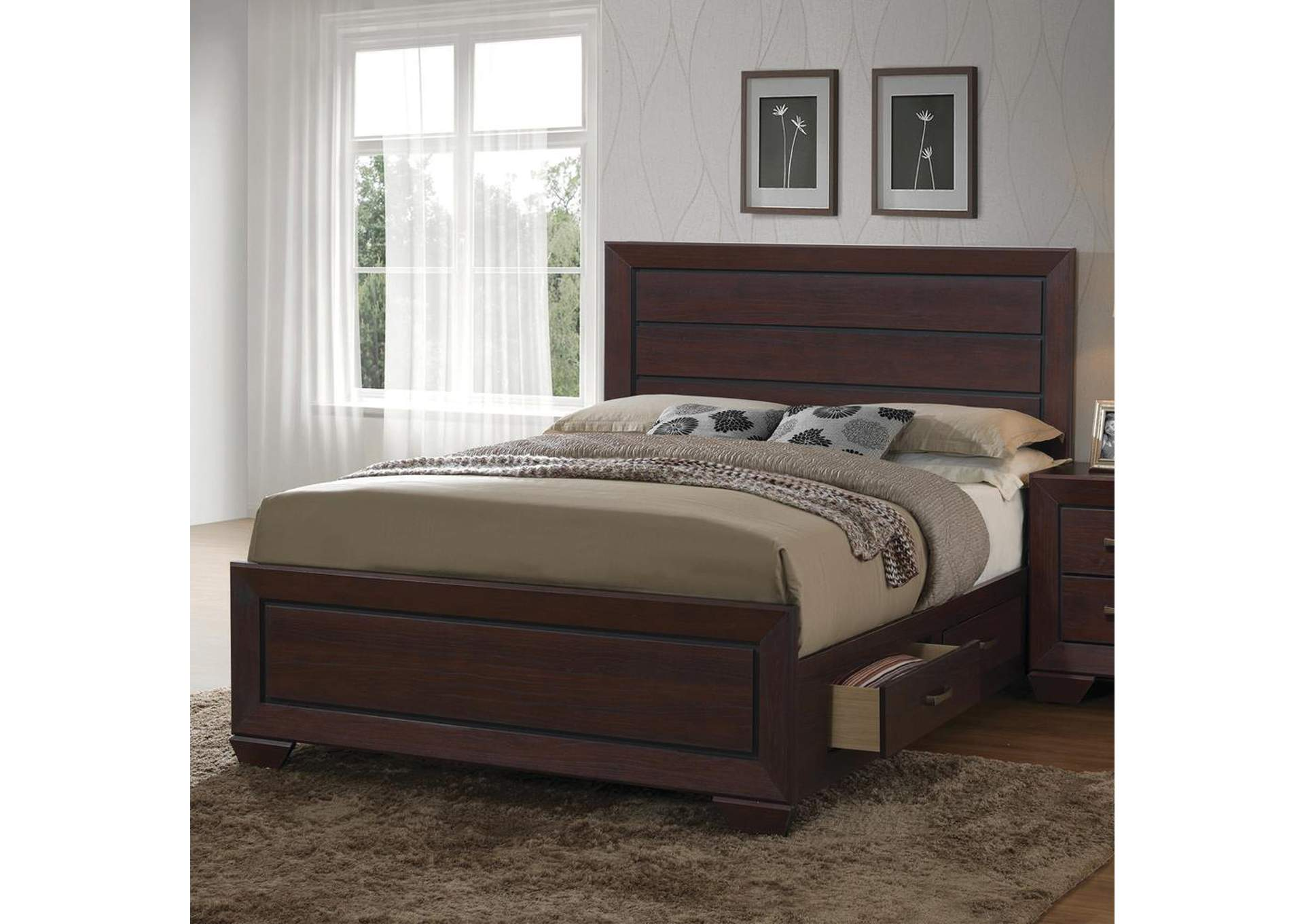 Fenbrook Dark Cocoa Queen Storage Bed,Coaster Furniture