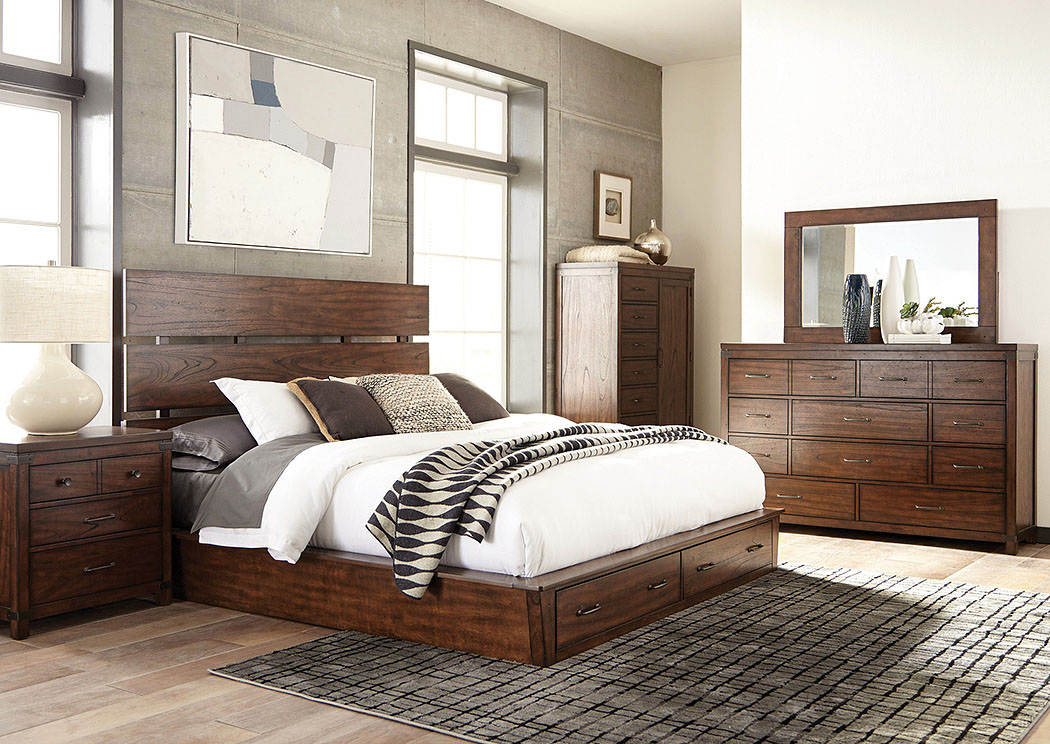 Artesia Dark Cocoa Eastern King Storage Bed,Coaster Furniture