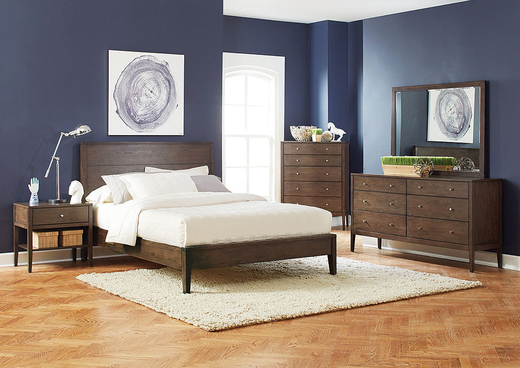 Lompoc Ash Brown Queen Platform Bed,Coaster Furniture