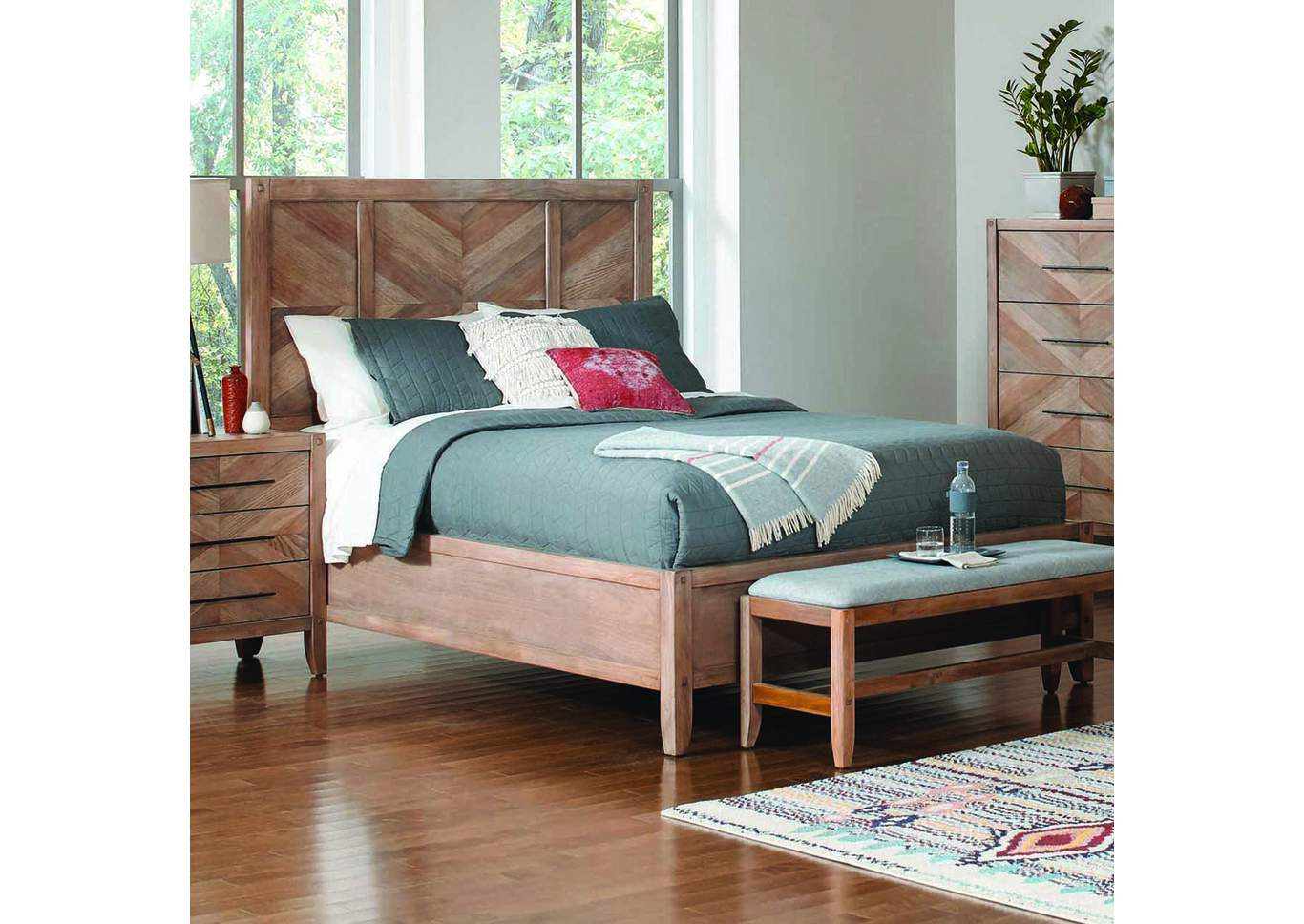 Auburn Natural Eastern King Platform Bed,Coaster Furniture