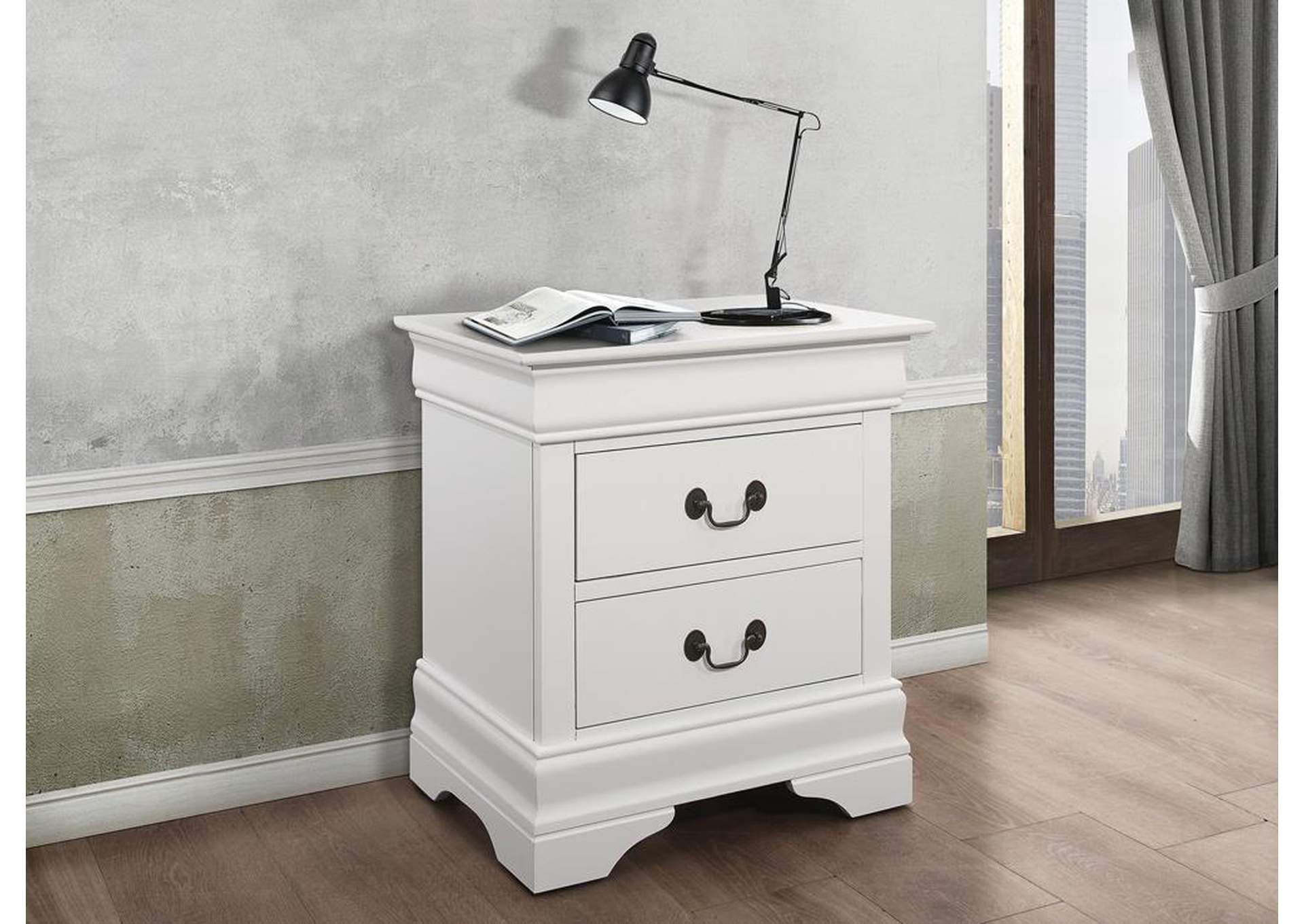 Louis Philippe White Night Stand,Coaster Furniture