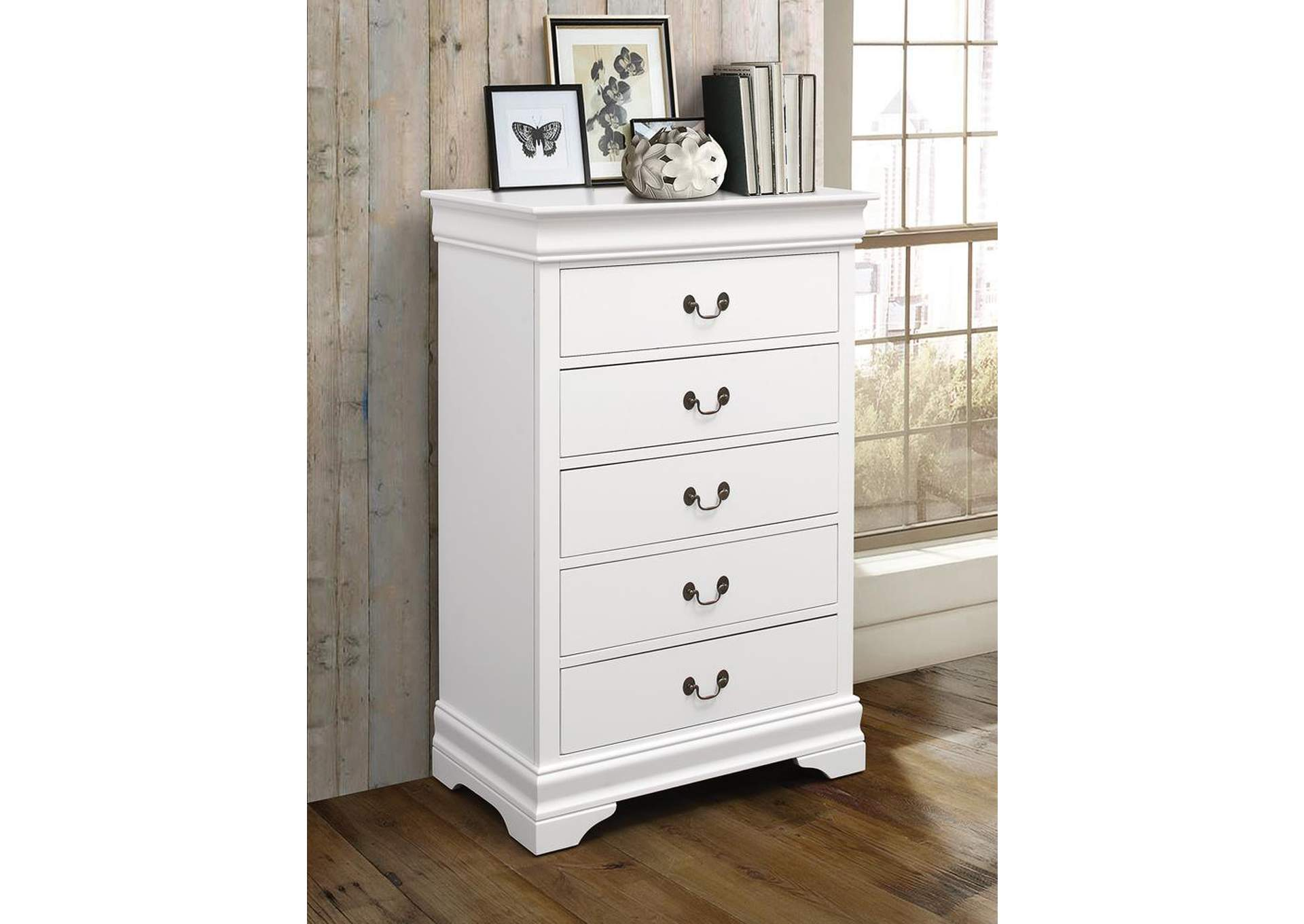 Louis Philippe White Chest,Coaster Furniture