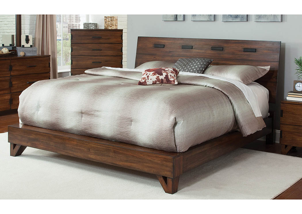 Dark Amber/Coffee Bean Queen Platform Bed,Coaster Furniture