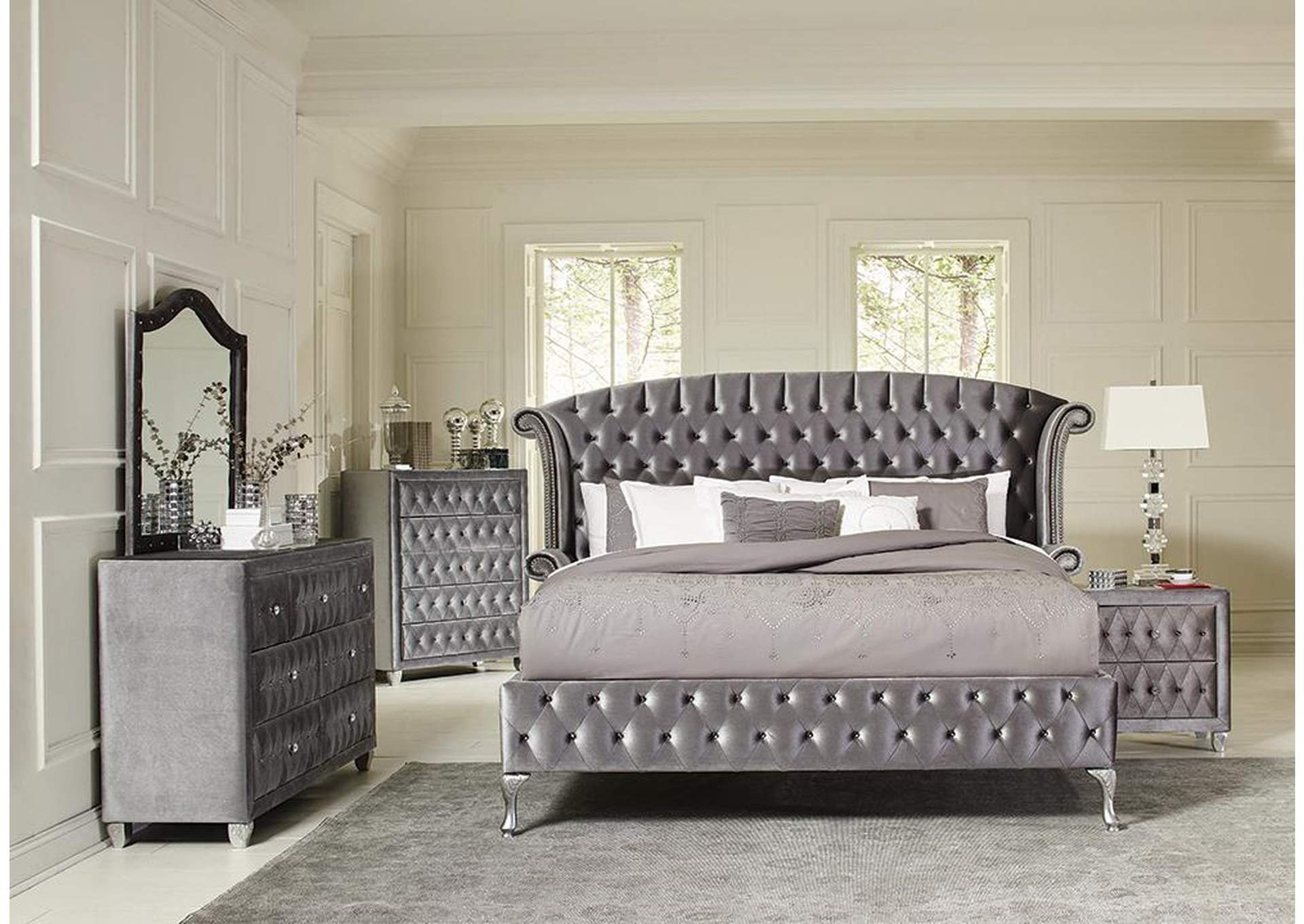 Deanna Metallic California King Bed,Coaster Furniture