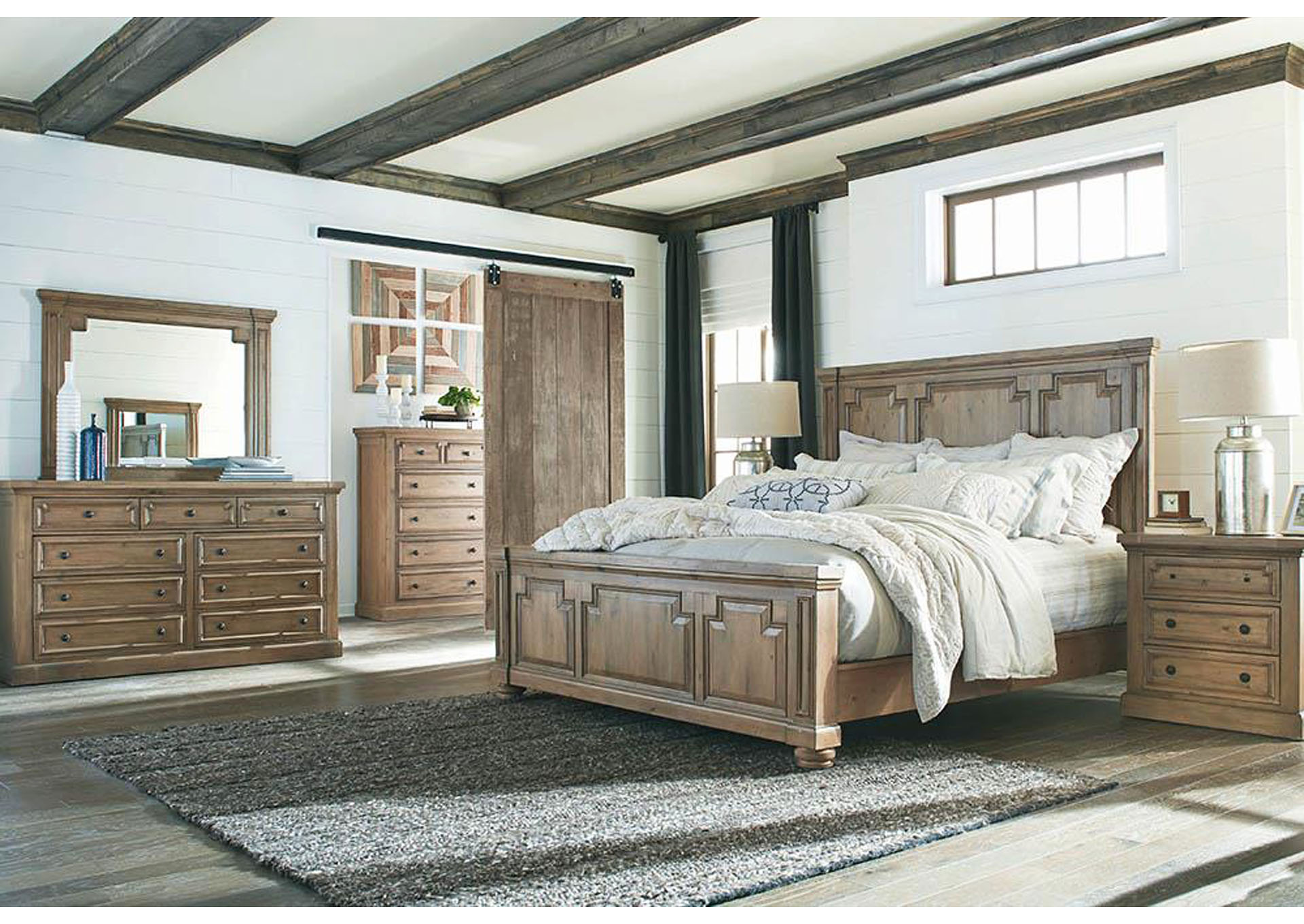 Florence Rustic Smoke California King 5 Piece Bedroom Set,Coaster Furniture