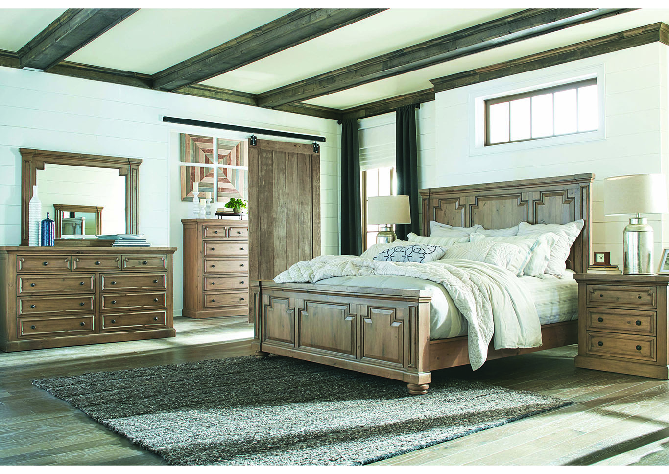 Florence Rustic Smoke Queen Bed,Coaster Furniture