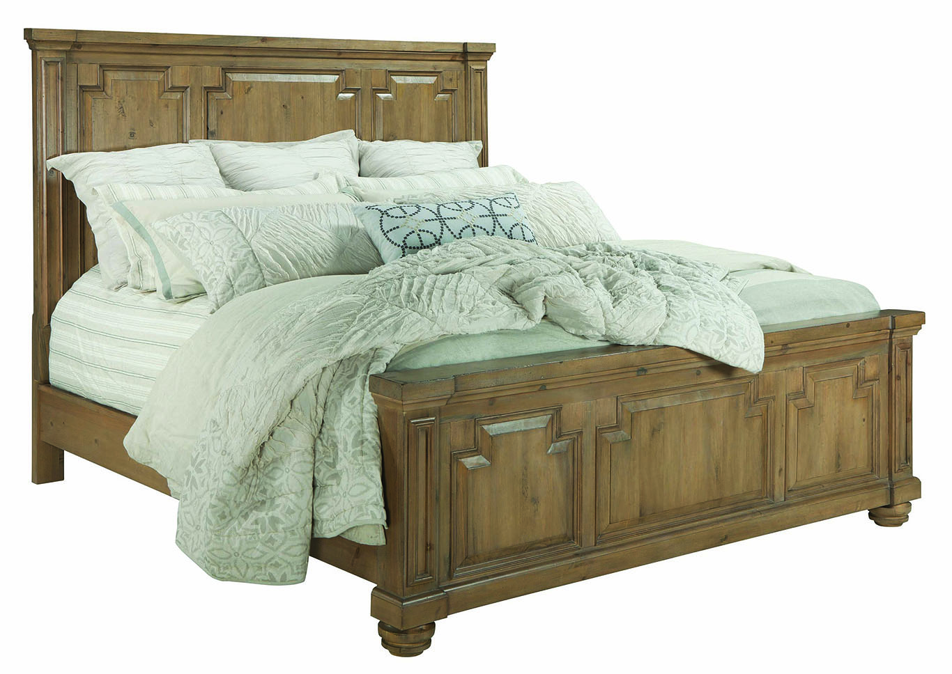 Florence Rustic Smoke Queen 4 Piece Bedroom Set,Coaster Furniture