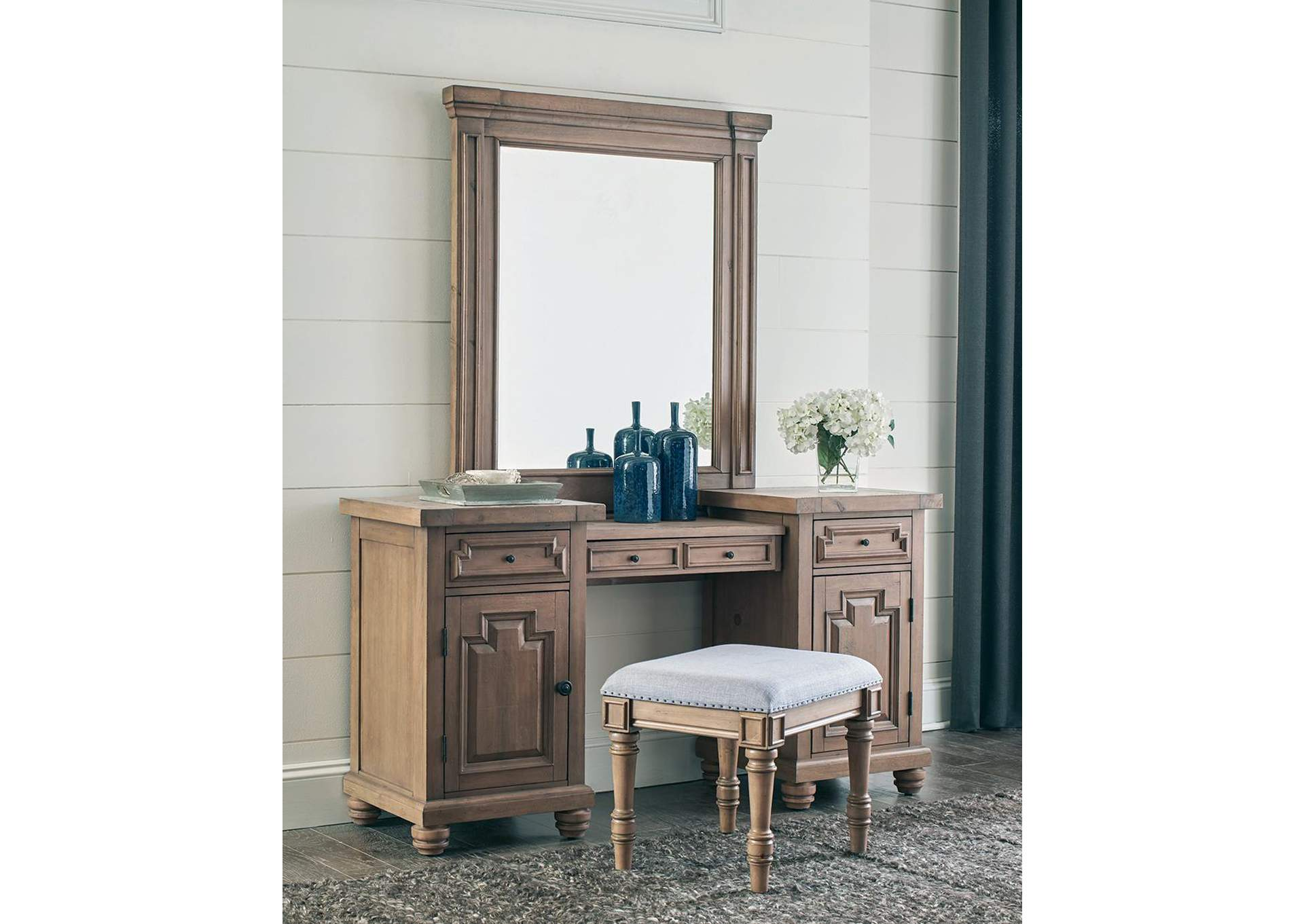 Gray/Brown Vanity Bench,Coaster Furniture