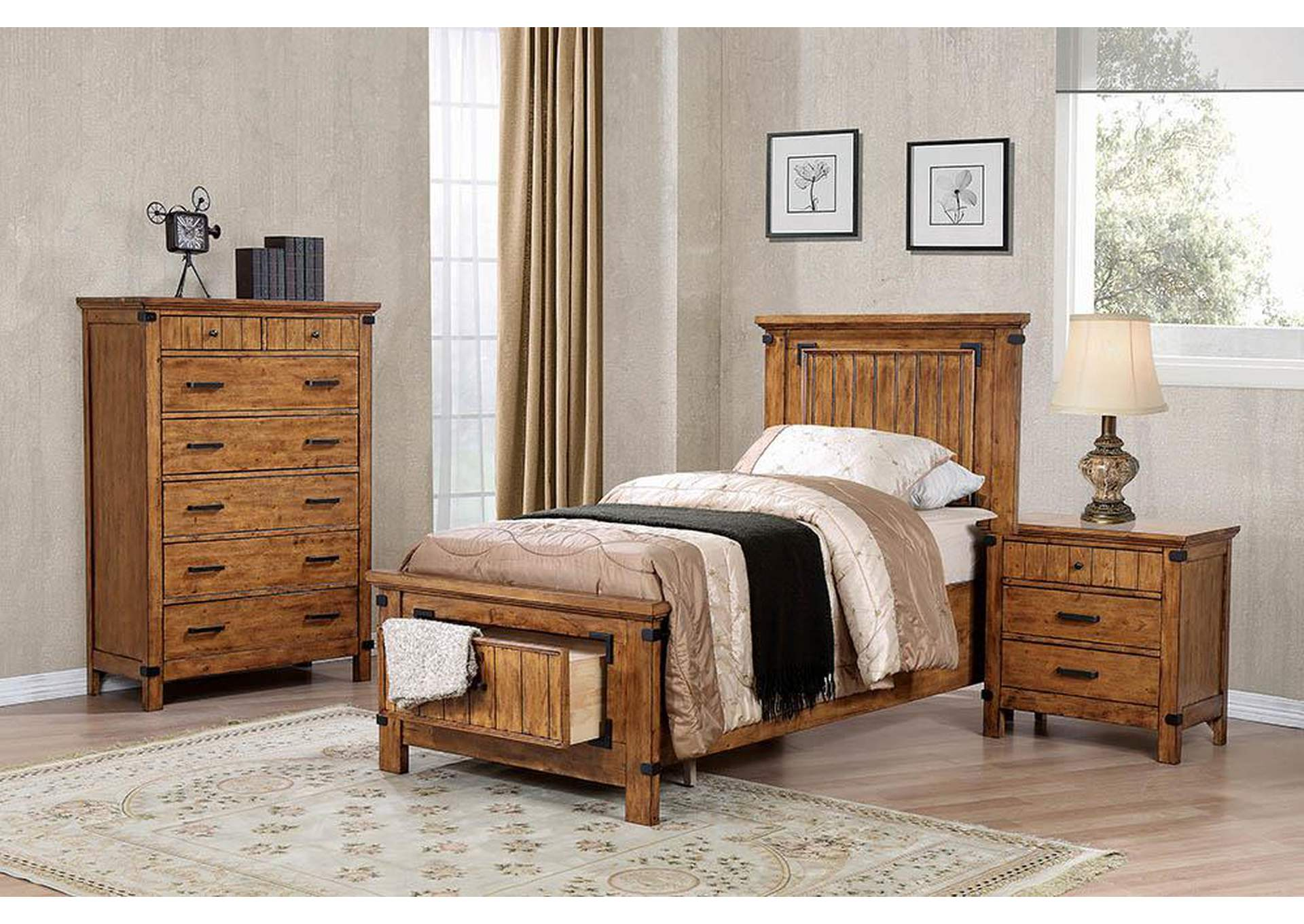 Rustic Honey Brenner Rustic Honey Twin Bed,Coaster Furniture