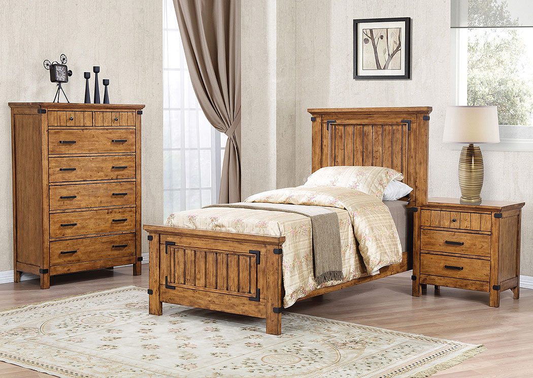 Natural & Honey Twin Panel Bed,Coaster Furniture