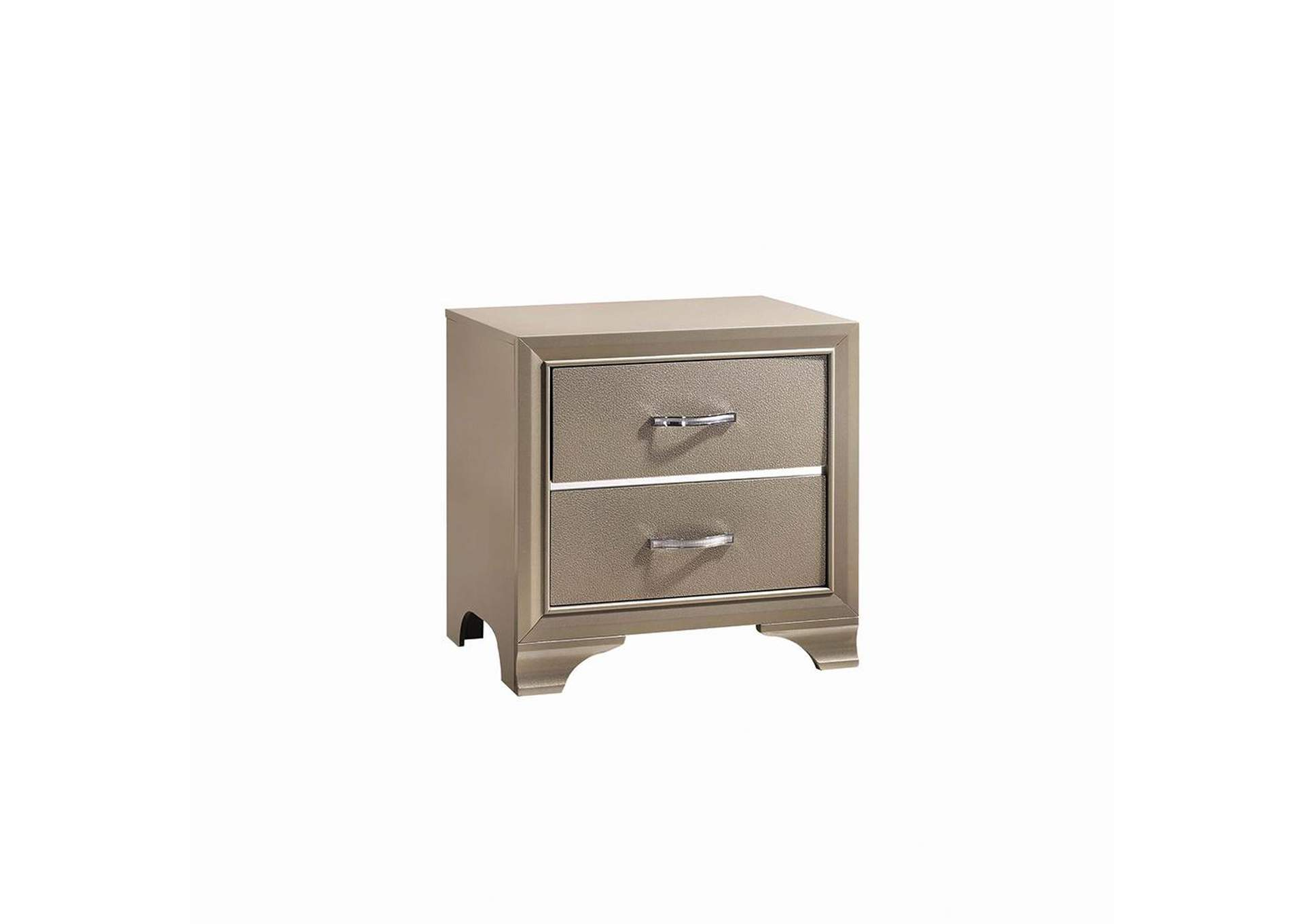 Champagne Nightstand,Coaster Furniture