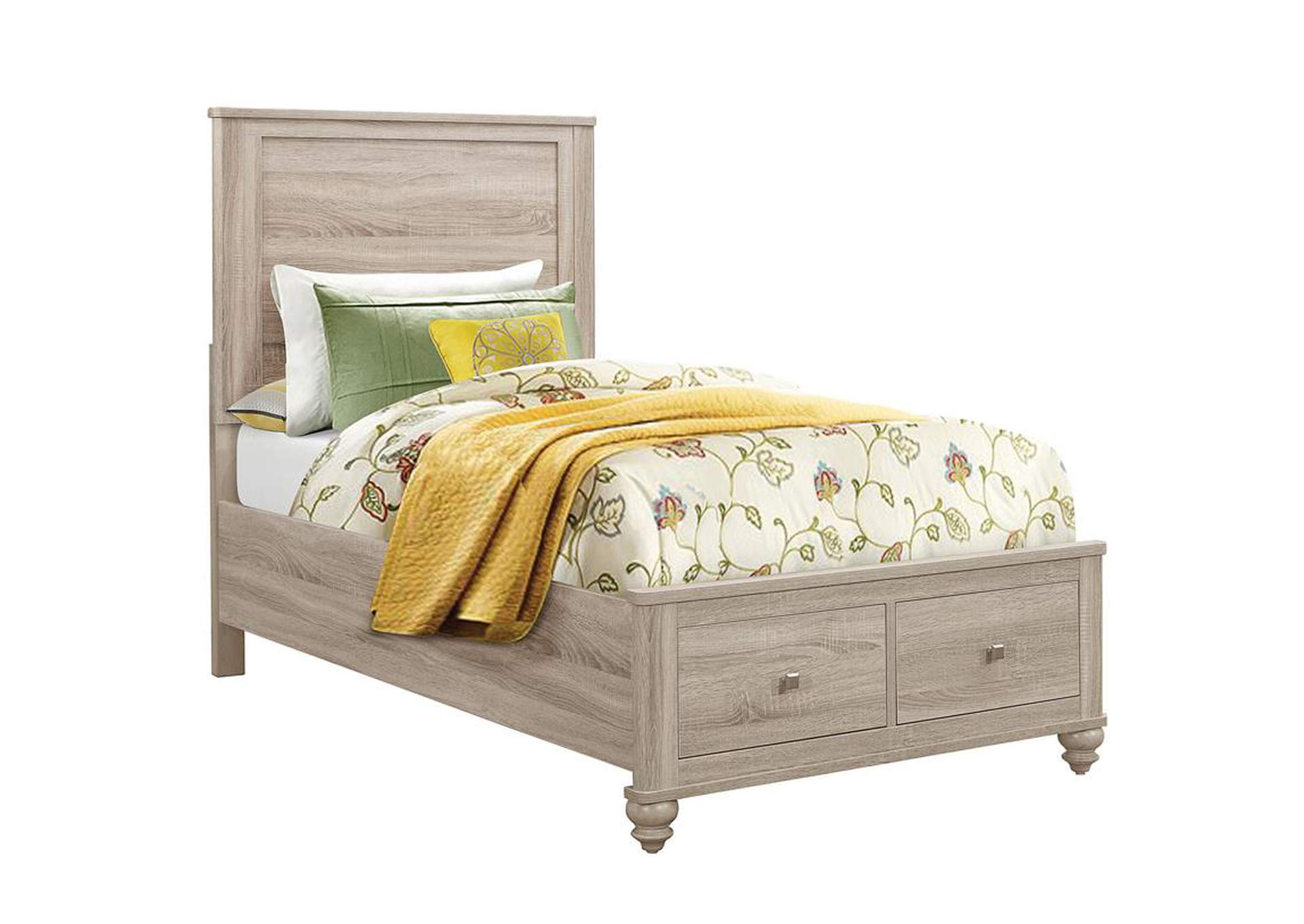 Wenham Natural Oak Twin Storage Bed,Coaster Furniture