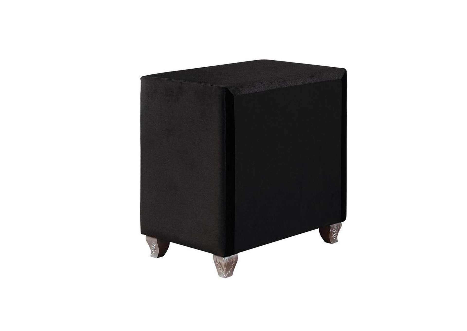 Deanna Metallic Black Nightstand,Coaster Furniture