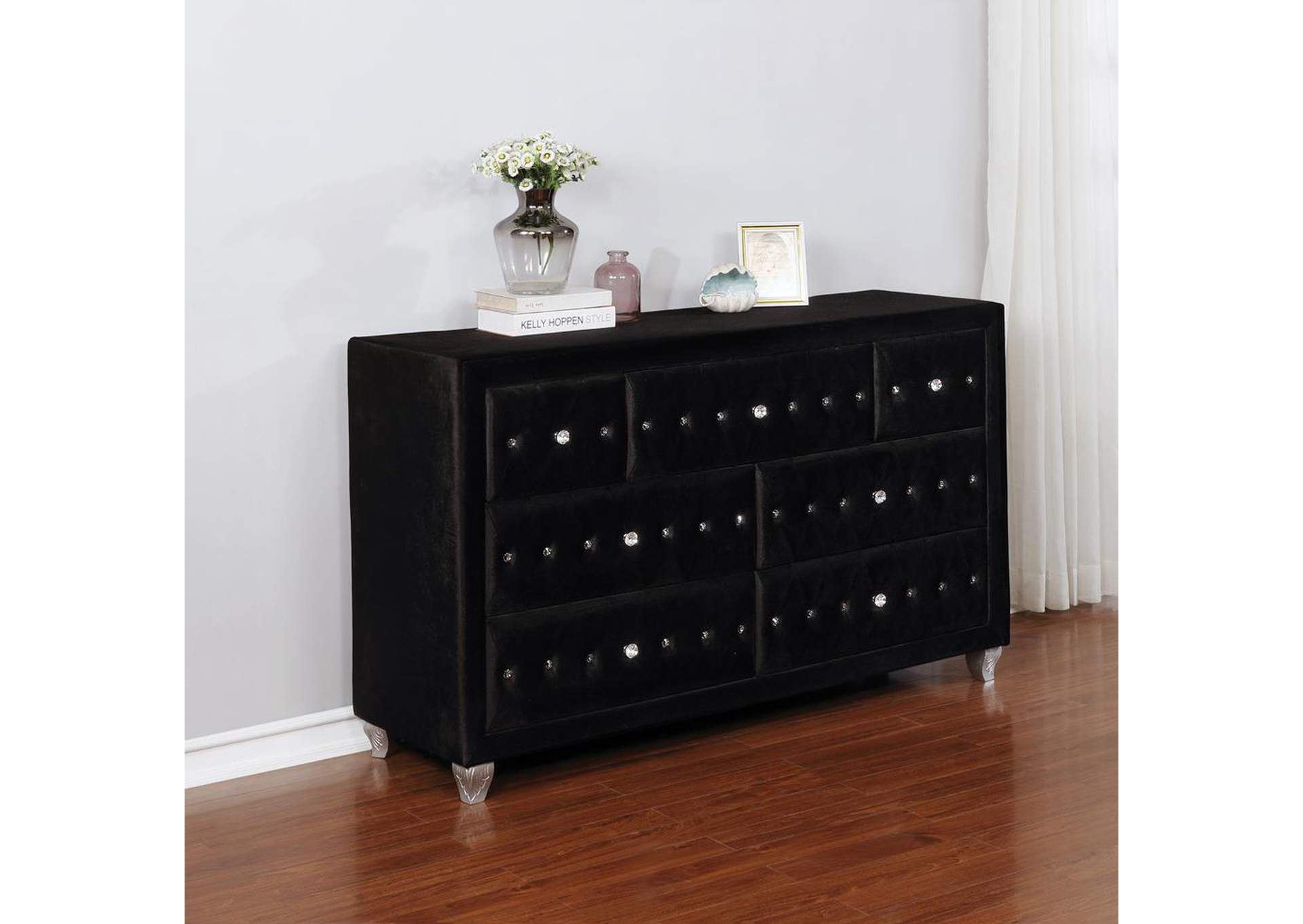 Deanna Metallic Black Dresser,Coaster Furniture