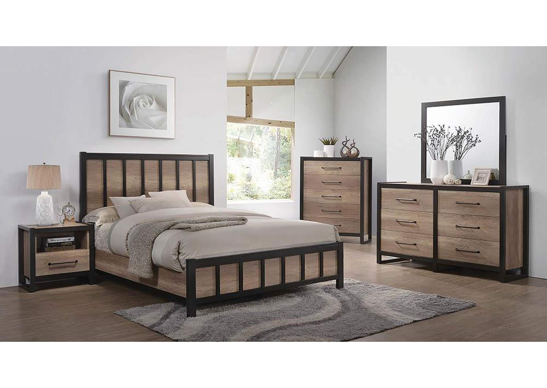 Surprising Country House Furniture Edgewater Weathered Oak Eastern King Bed Andrewgaddart Wooden Chair Designs For Living Room Andrewgaddartcom