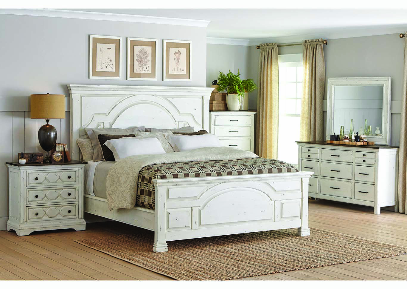 Celeste White Dresser w/Mirror,Coaster Furniture