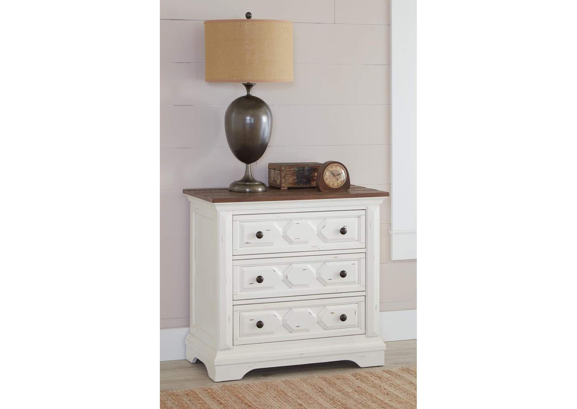 Celeste White Nightstand,Coaster Furniture