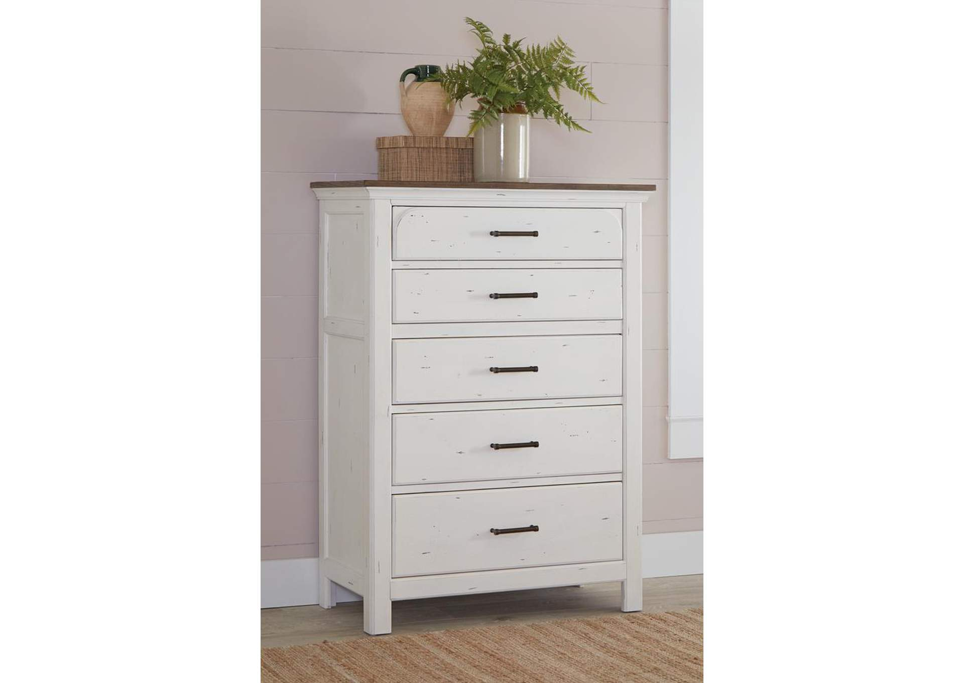 Celeste White Chest,Coaster Furniture
