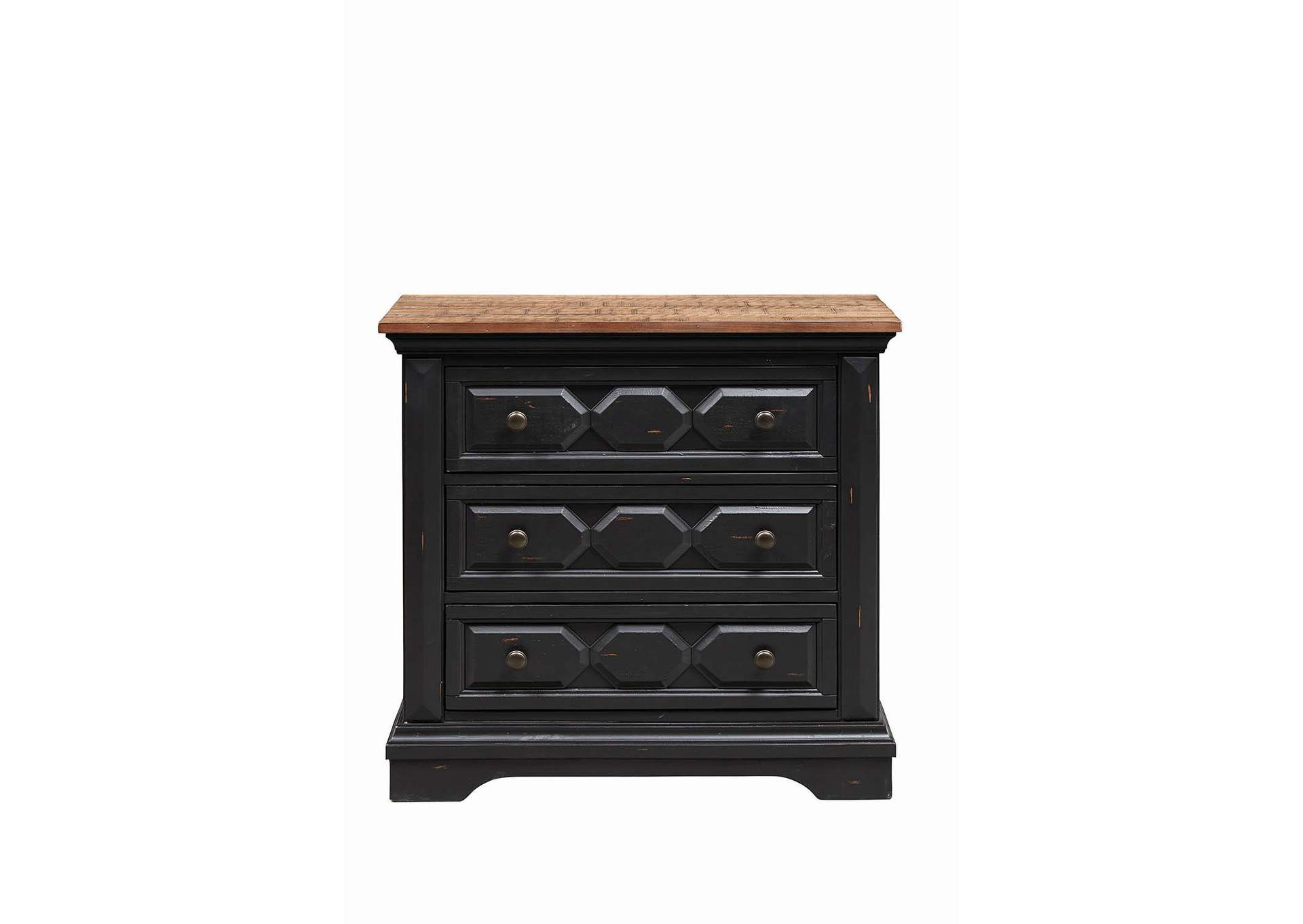 Vintage Black Nightstand,Coaster Furniture