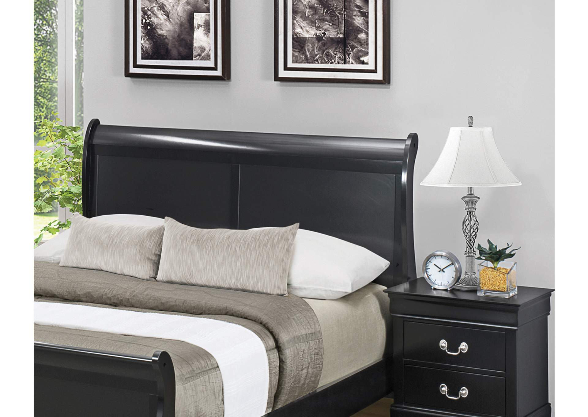 Black Panel Full Bed,Coaster Furniture