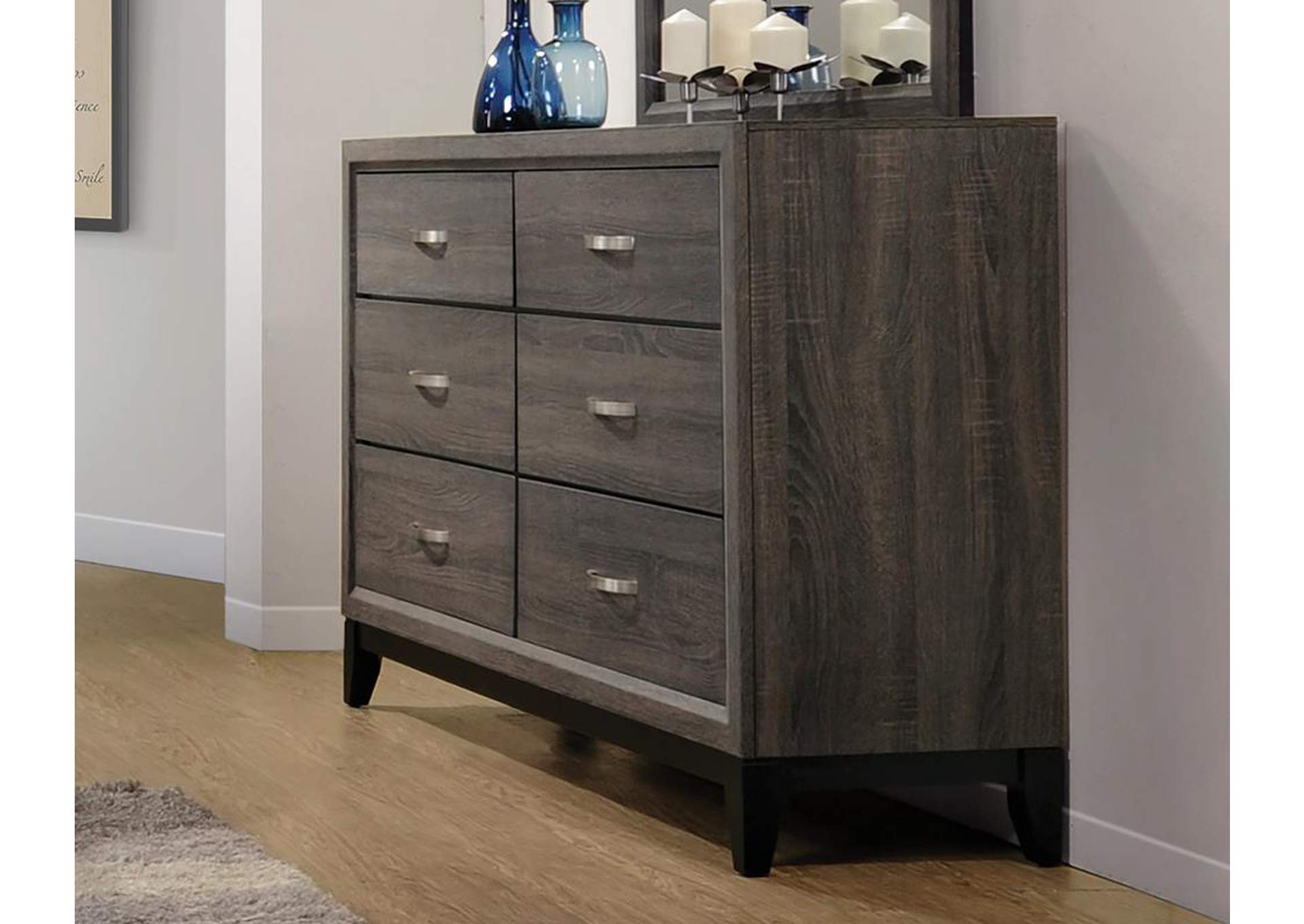 Watson Rustic Grey Oak Dresser,Coaster Furniture