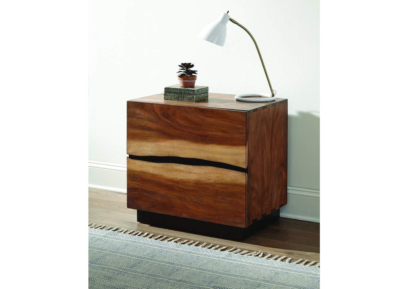 Smoky Walnut Nightstand,Coaster Furniture