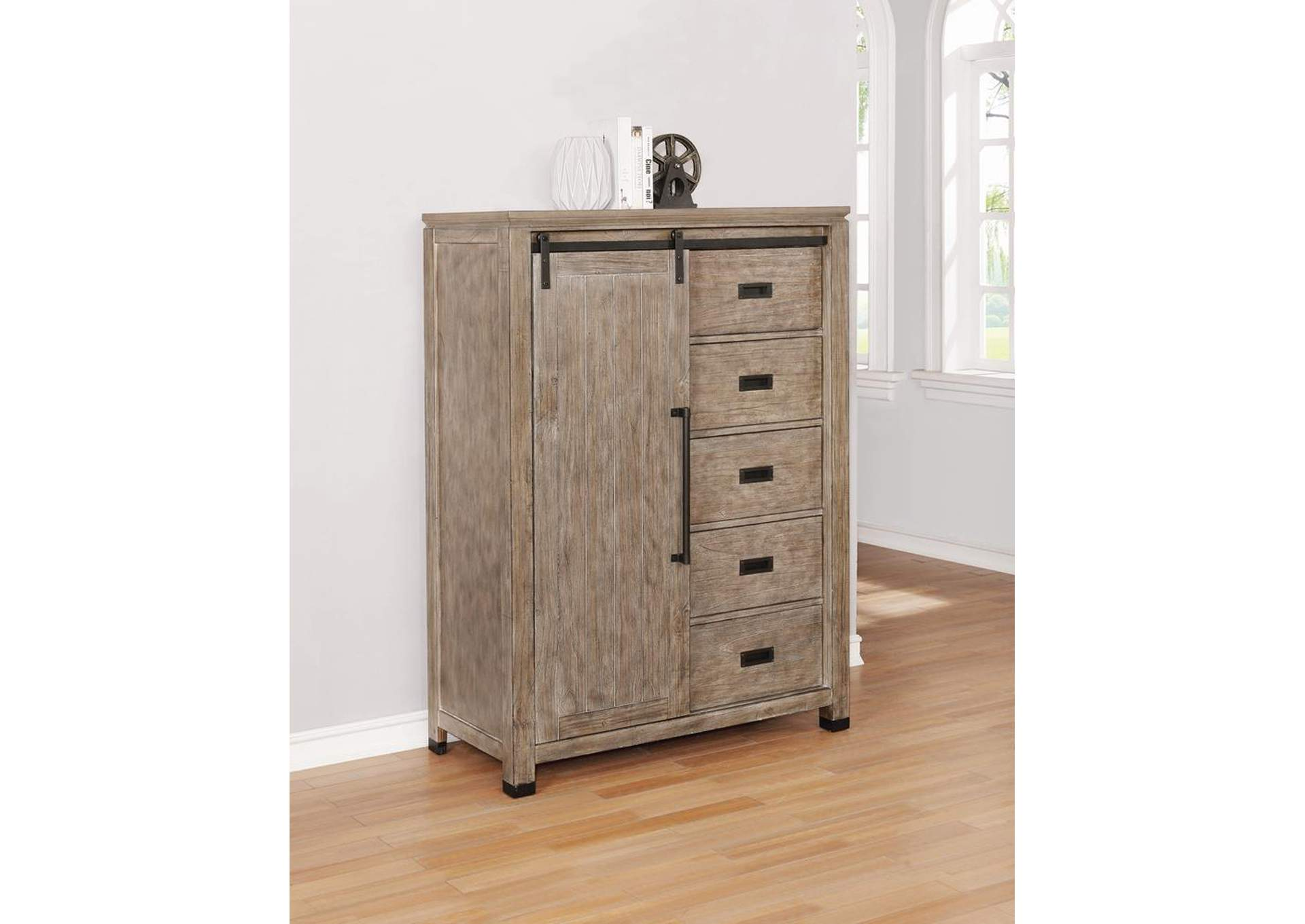 Meester Rustic Barn Door Chest,Coaster Furniture