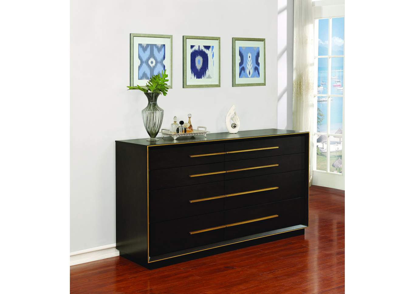 Smoked Peppercorn Dresser,Coaster Furniture