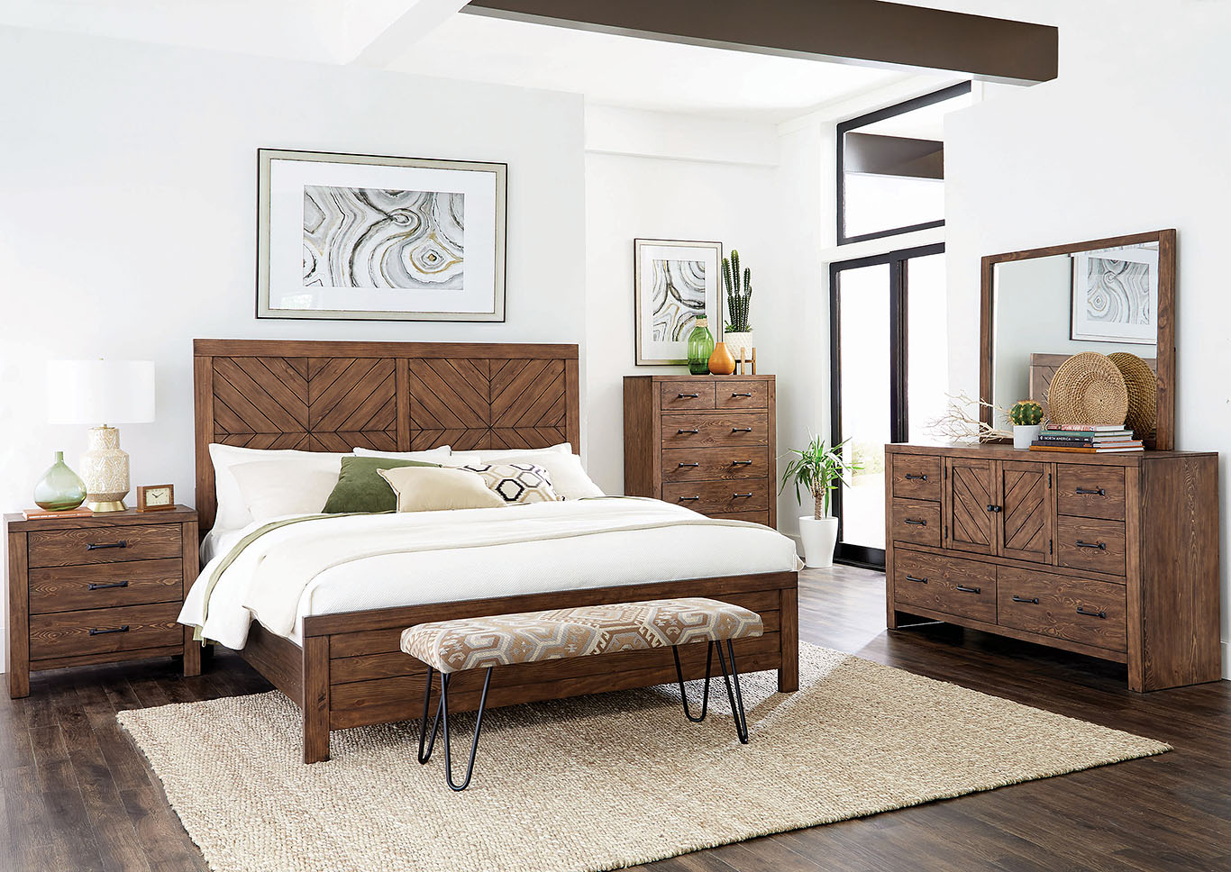 Reeves Mojave Brown Queen Bed,Coaster Furniture