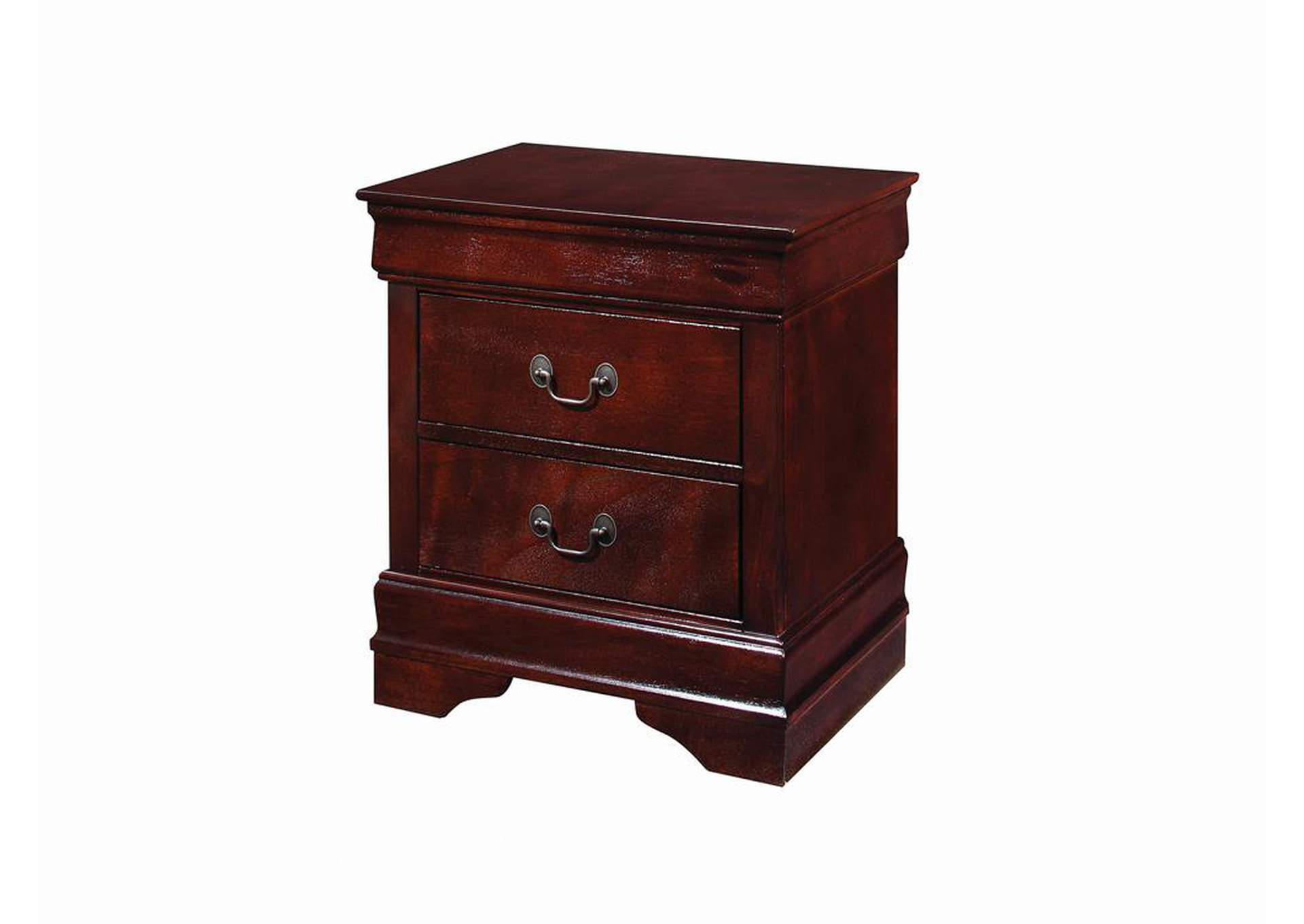 Louis Philippe Cherry Nightstand,Coaster Furniture