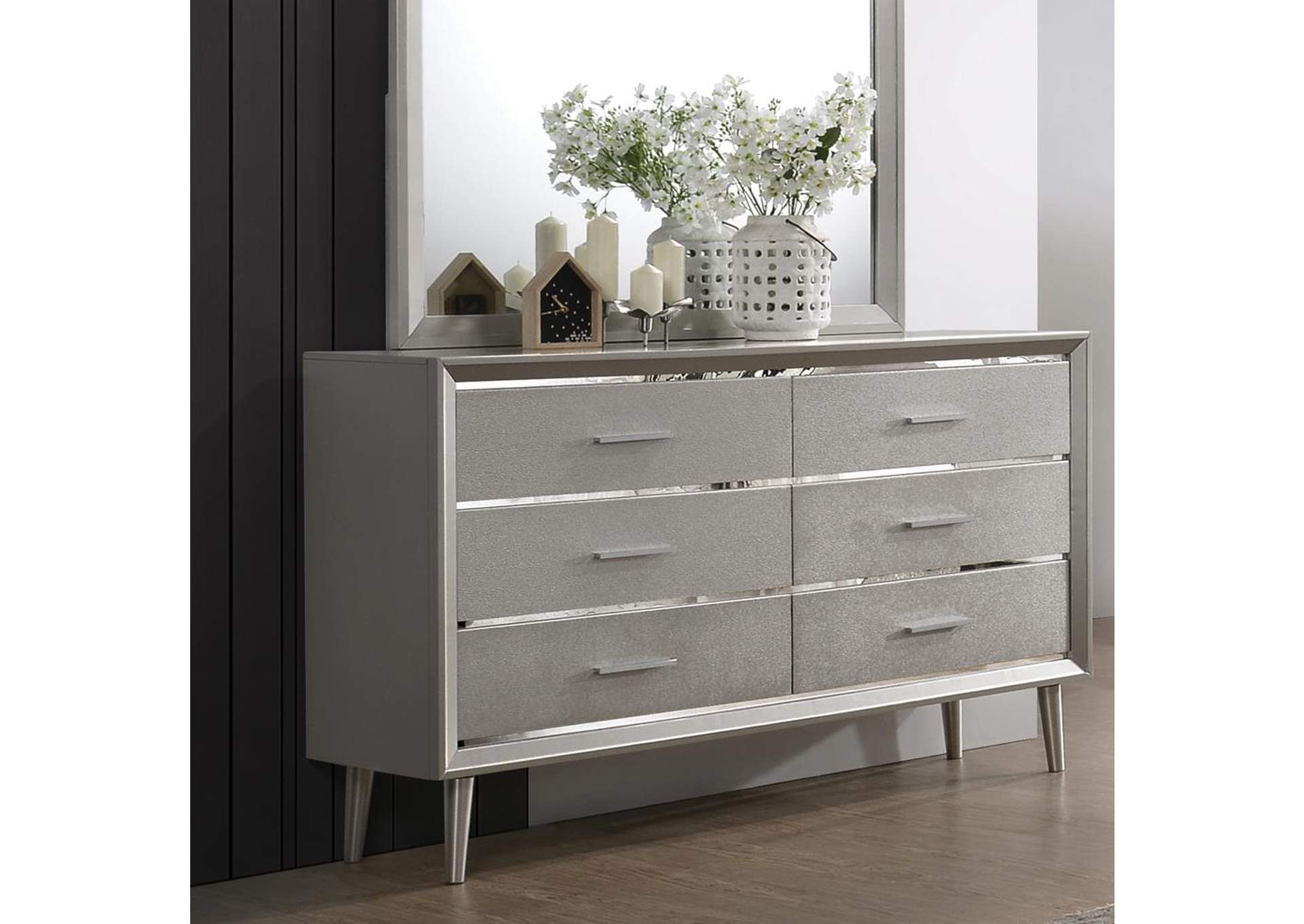 Metallic Sterling Dresser,Coaster Furniture