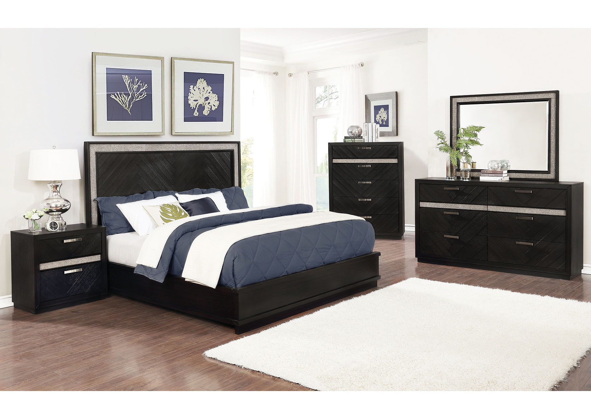 Cararra 3 Piece Queen Bedroom Set Oak Furniture Liquidators