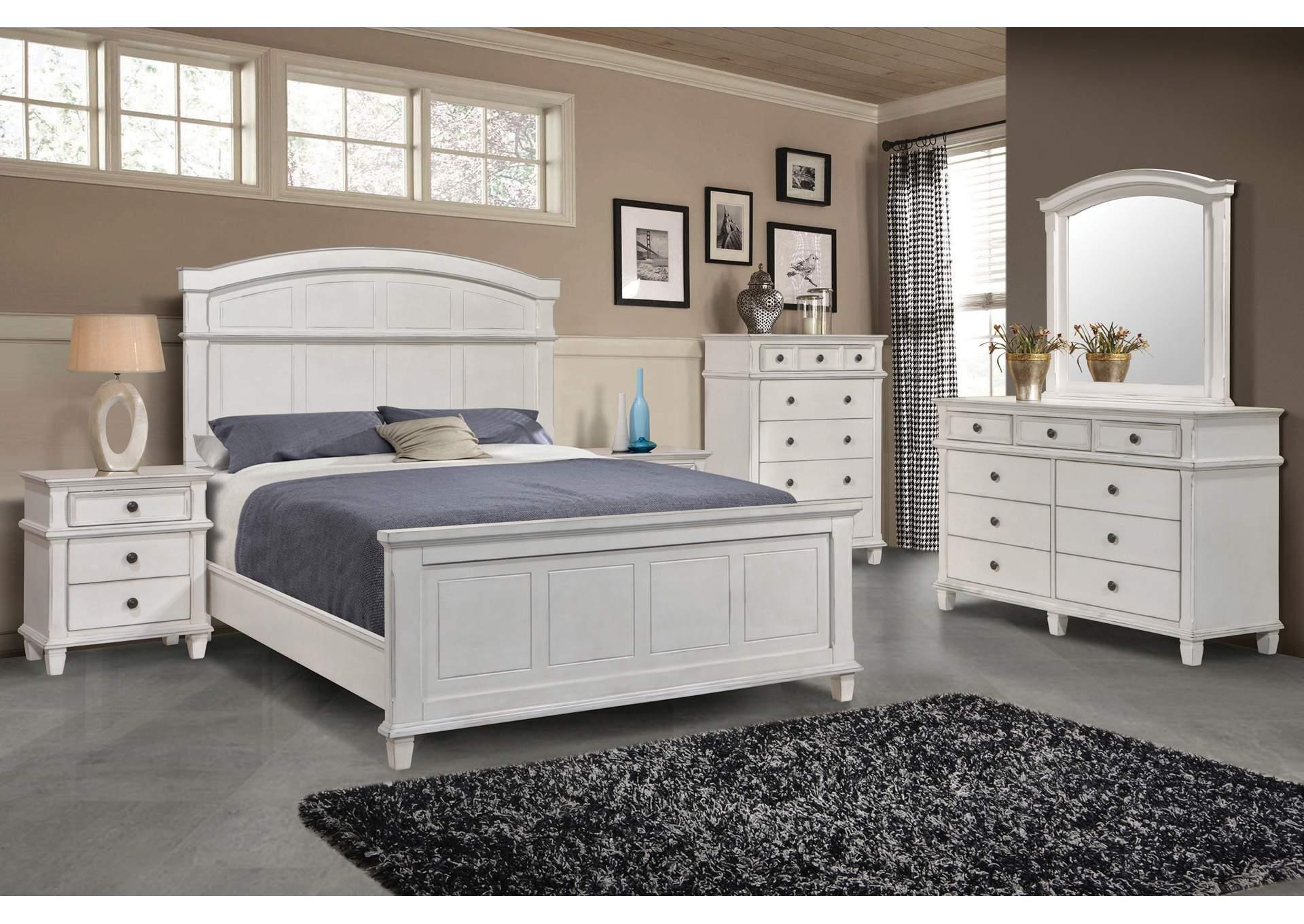 Carolina White Panel Queen 5 Piece Bedroom Set Best Buy Furniture