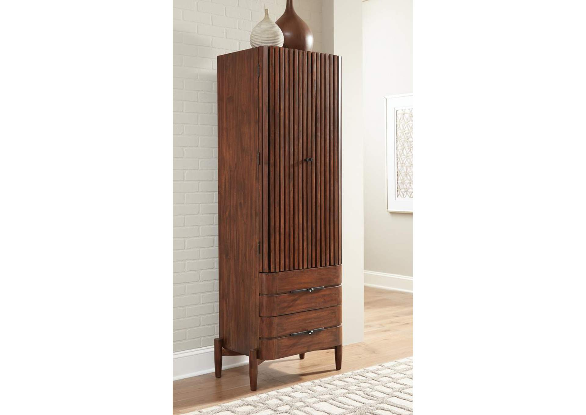 San Mateo Desert Teak 2-Drawer Shoe Cabinet,Coaster Furniture
