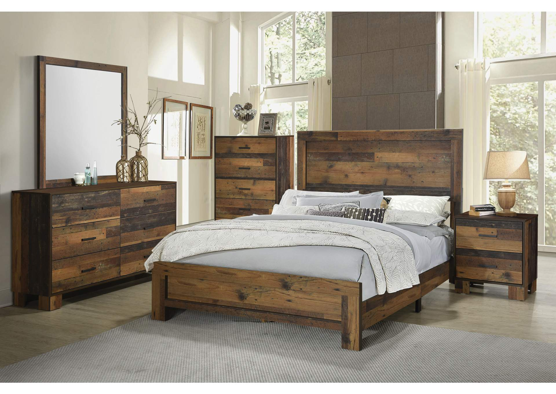 Sidney Rustic Pine Panel Twin Bed,Coaster Furniture