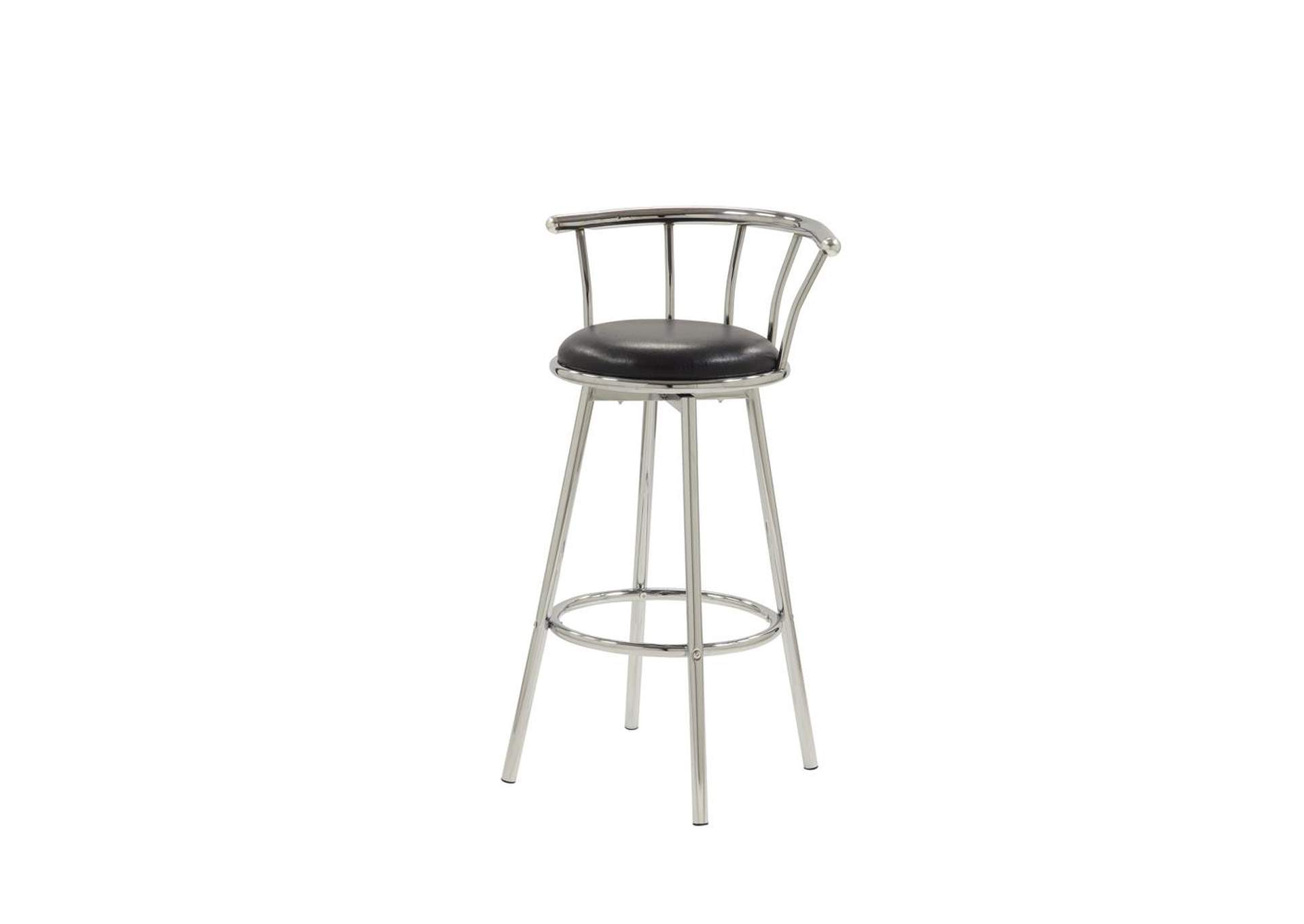 Cultured Pearl Chrome-Plated Swivel Bar Stool [Set of 2],Coaster Furniture