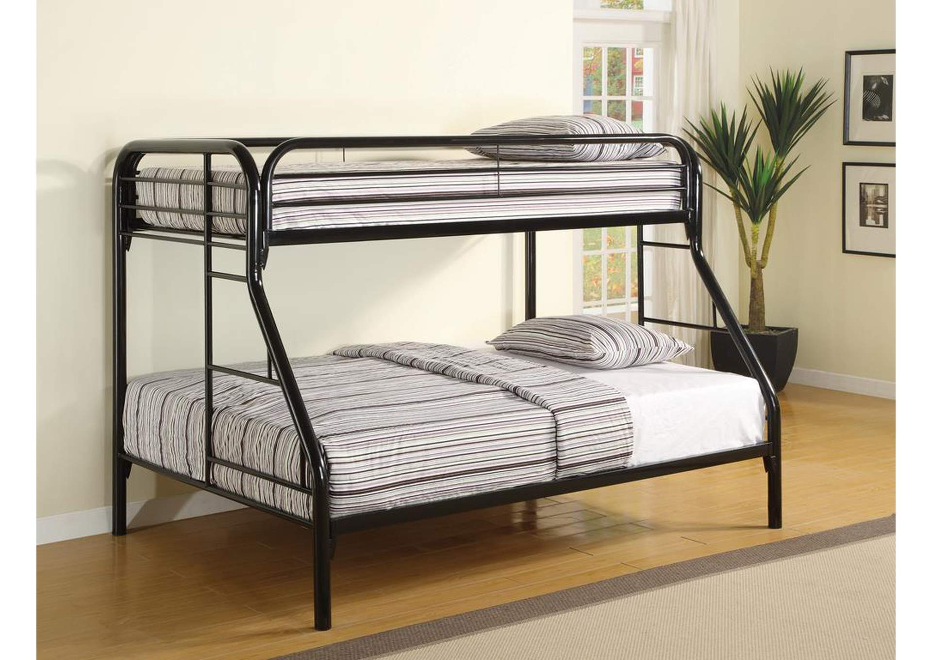 Twin/Full Bunkbed (Metal),ABF Coaster Furniture