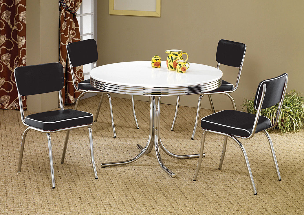 Round Retro Dining Table,Coaster Furniture