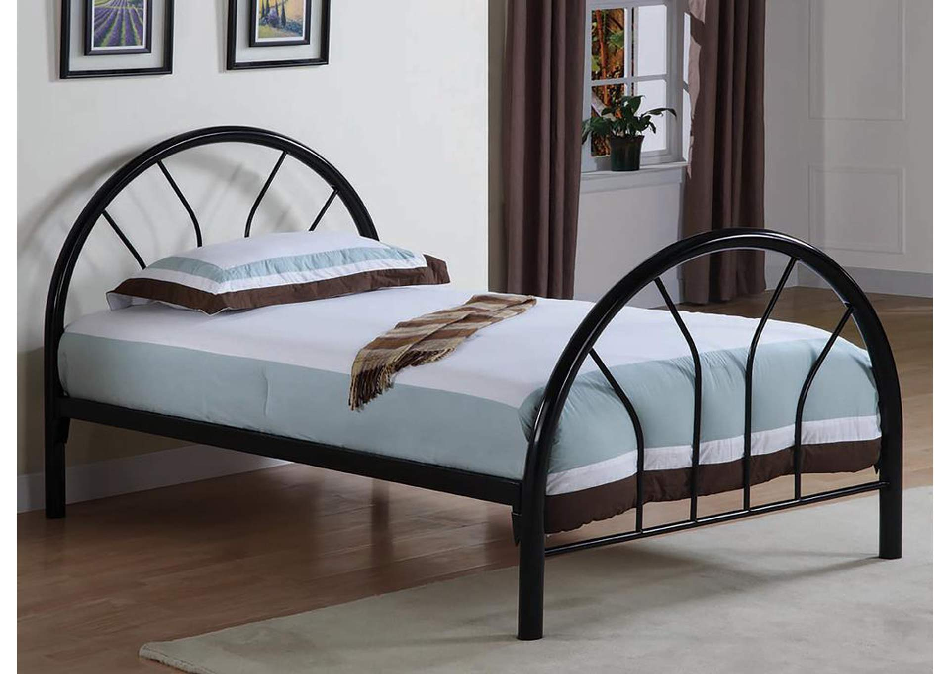 Black Metal Twin Bed,Coaster Furniture