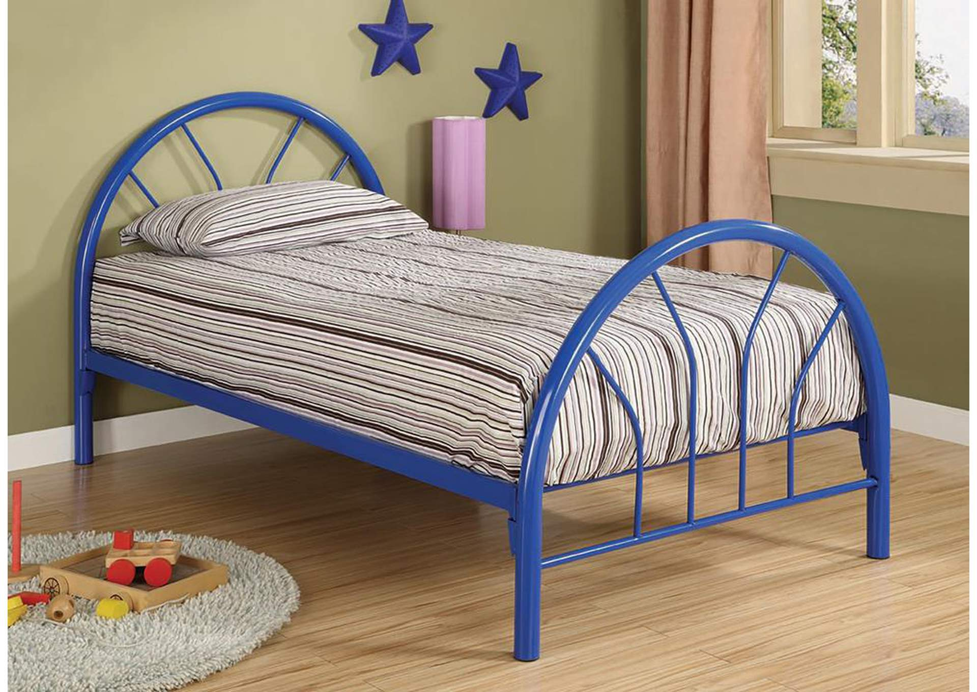 Blue Metal Twin Bed,Coaster Furniture