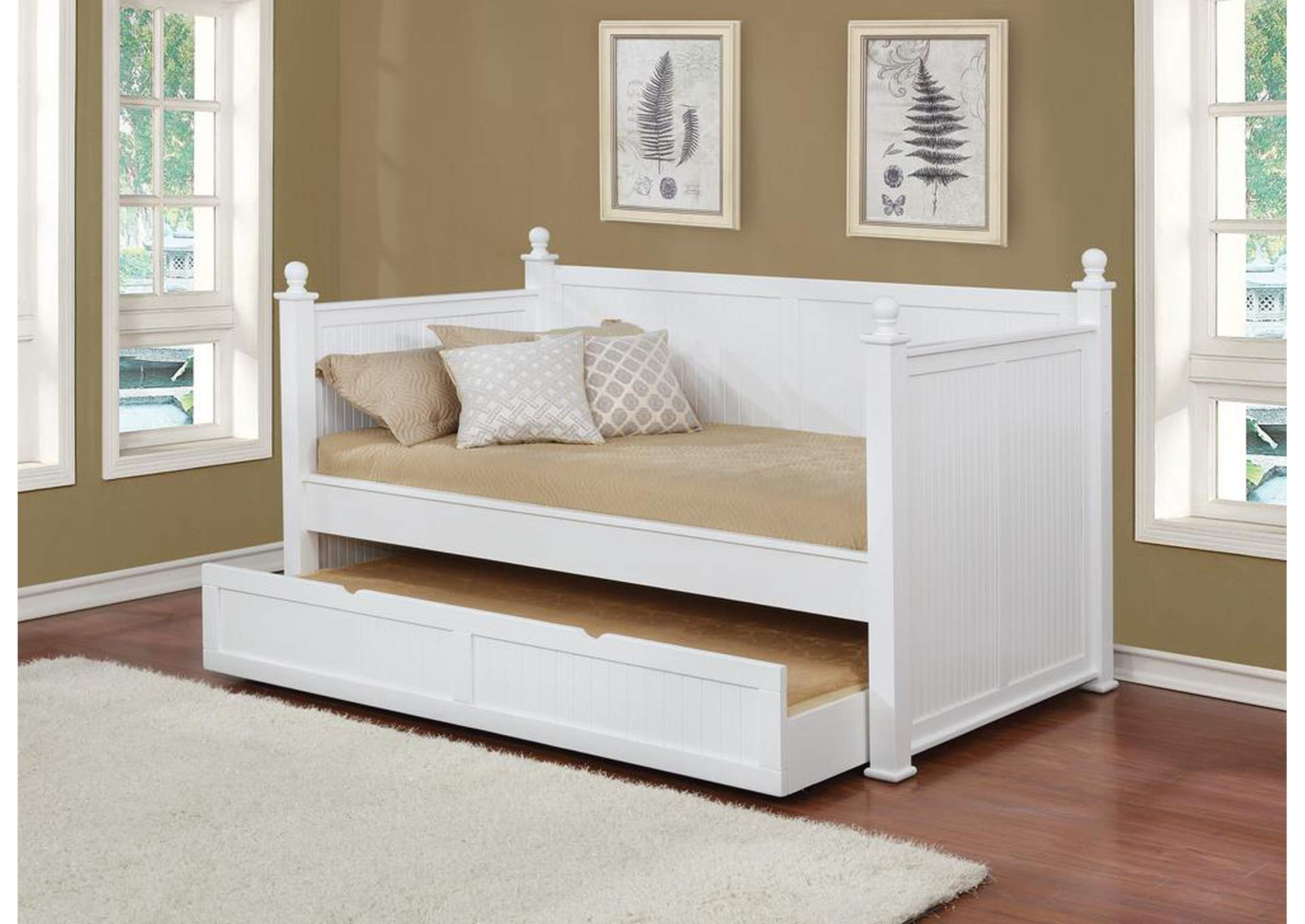 Wastal White Daybed,Coaster Furniture