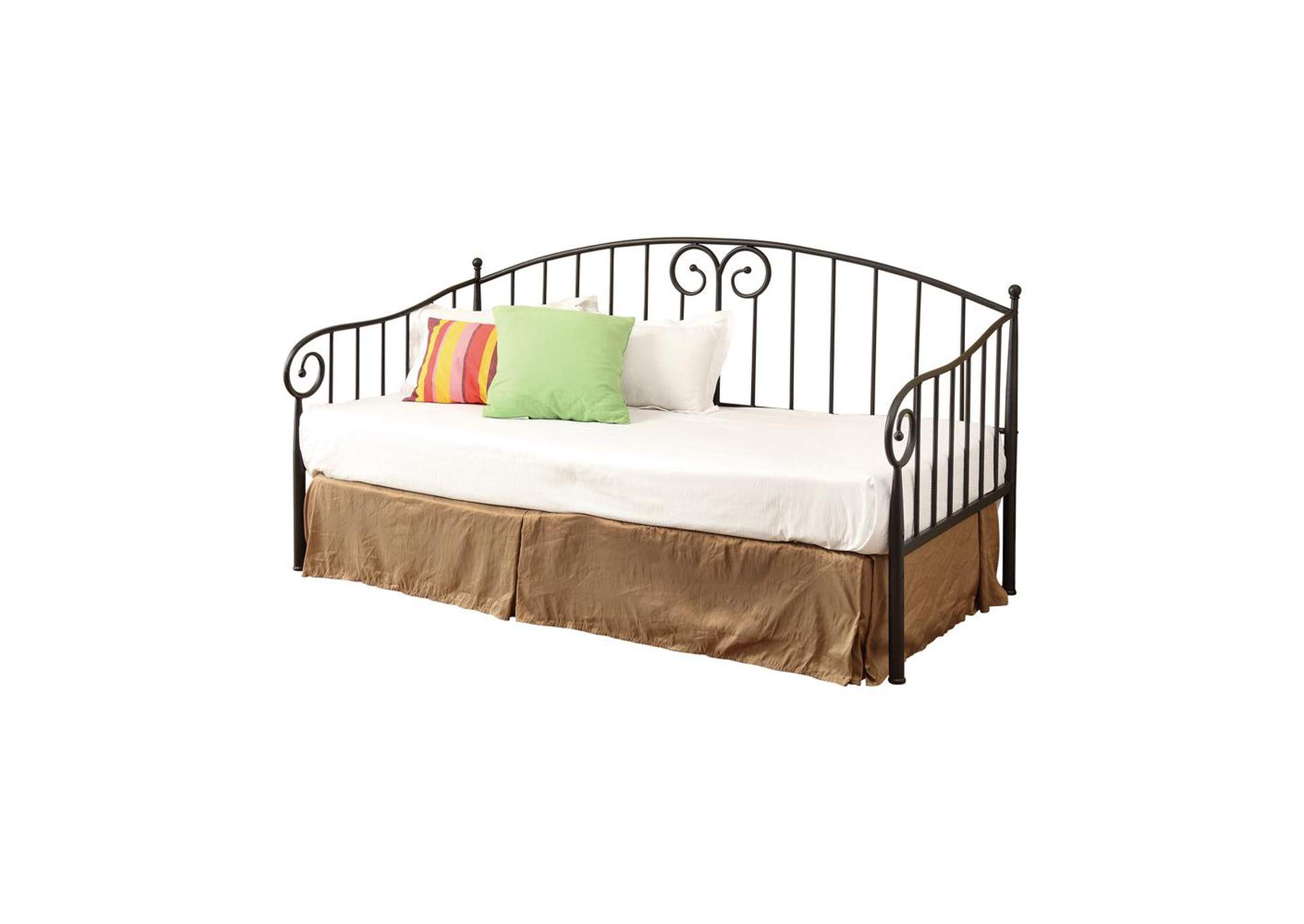 Pampas Traditional Black Metal Twin Daybed,Coaster Furniture