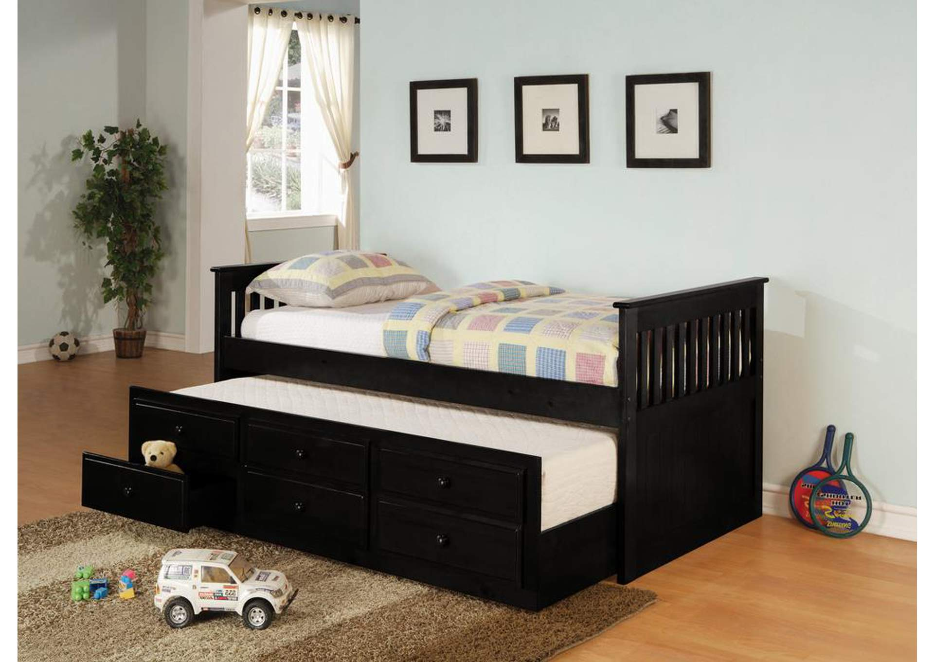 Black Twin Daybed,Coaster Furniture