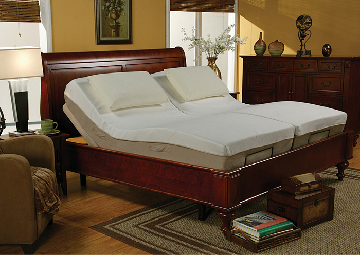 Premier Bedding Pinnacle Black Twin X-Long Adjustable Bed Base,Coaster Furniture