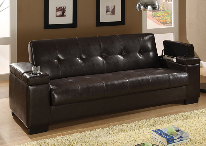 dark brown sofa bedcoaster furniture - Dark Brown Couch